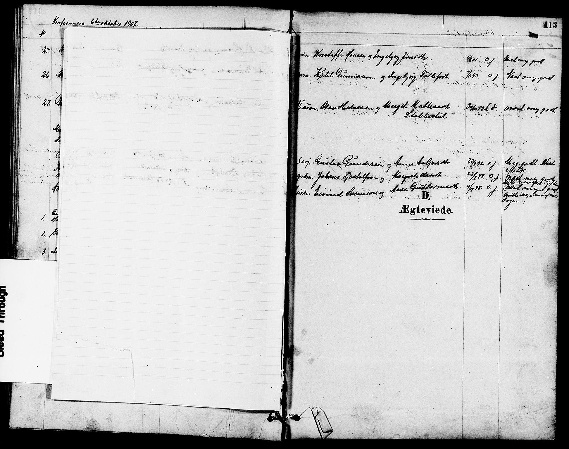 SAKO, Seljord kirkebøker, G/Ga/L0005: Klokkerbok nr. I 5, 1887-1914, s. 113