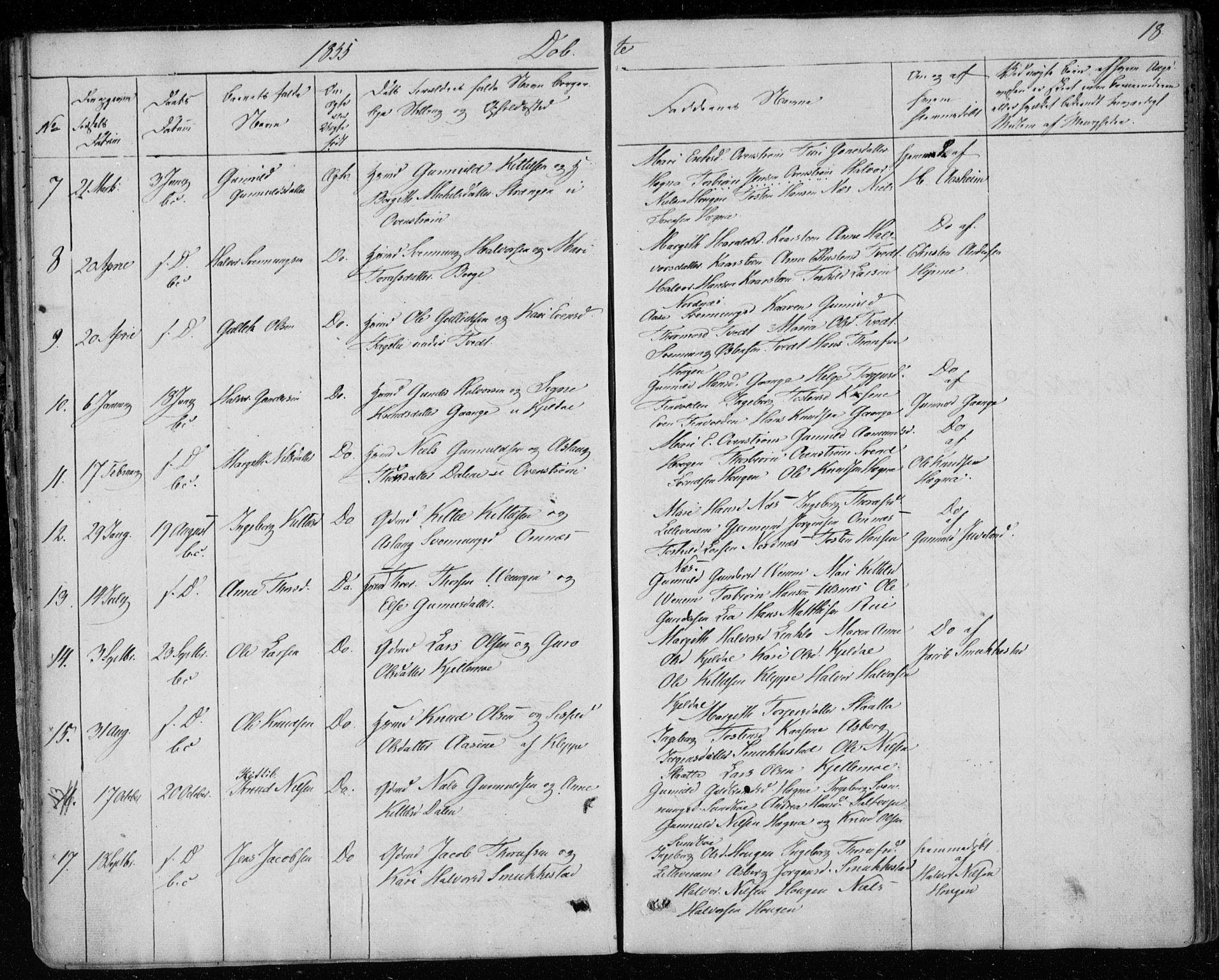SAKO, Lunde kirkebøker, F/Fb/L0001: Ministerialbok nr. II 1, 1845-1861, s. 18