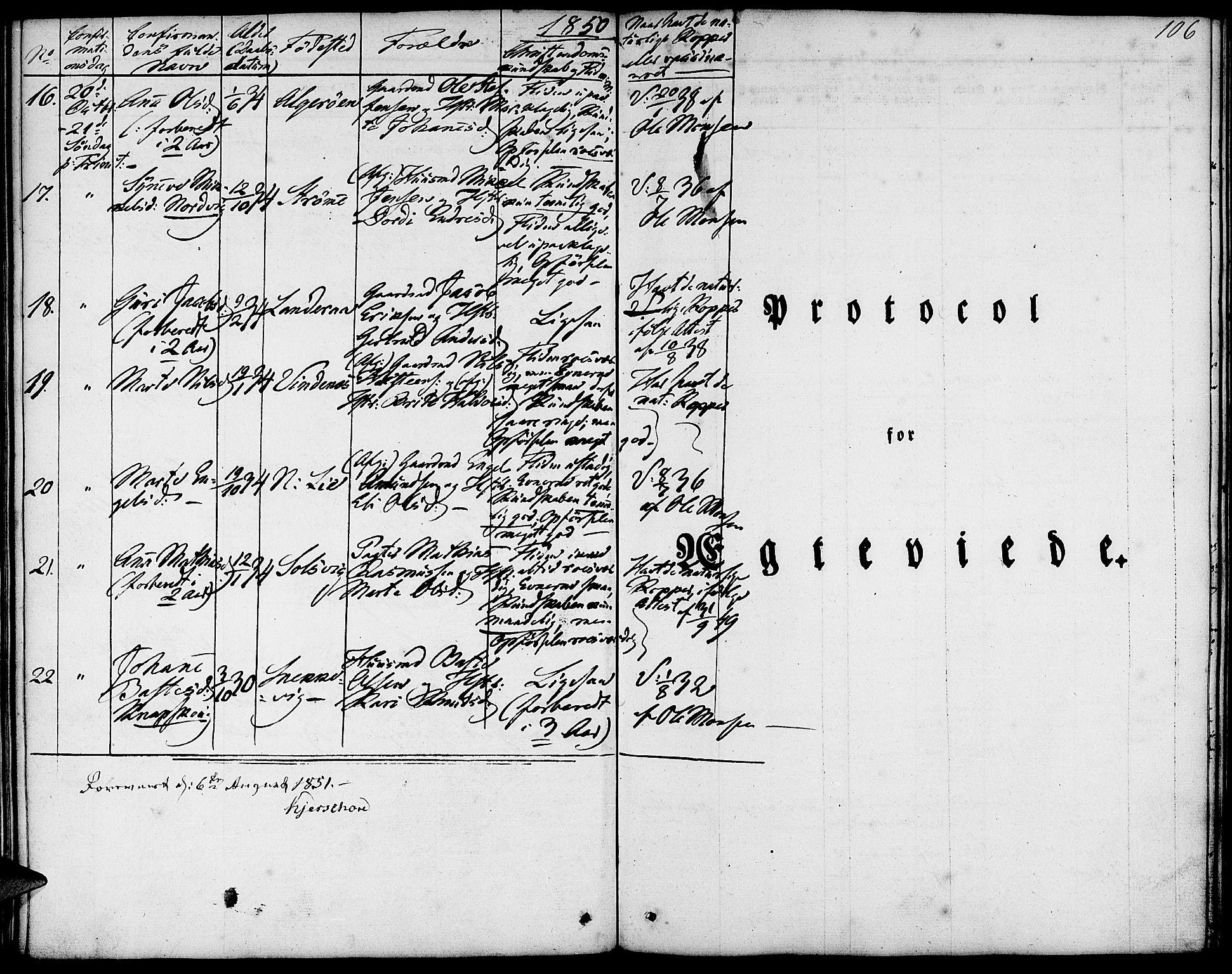 SAB, Fjell Sokneprestembete, H/Haa: Ministerialbok nr. A 1, 1835-1850, s. 106