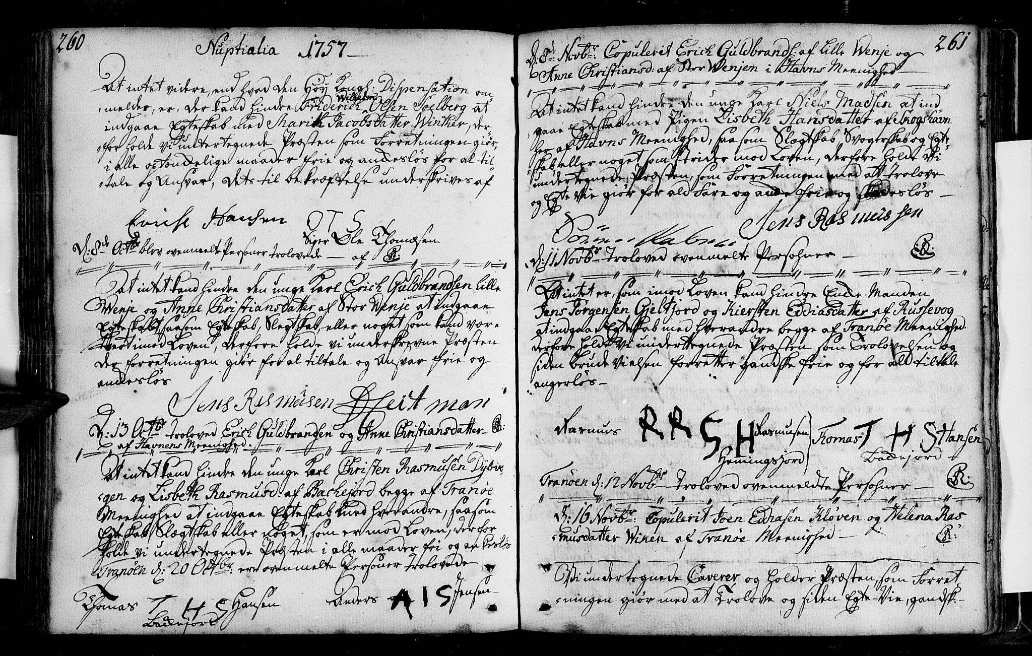 SATØ, Tranøy sokneprestkontor, I/Ia/Iaa/L0001kirke: Ministerialbok nr. 1, 1757-1773, s. 260-261