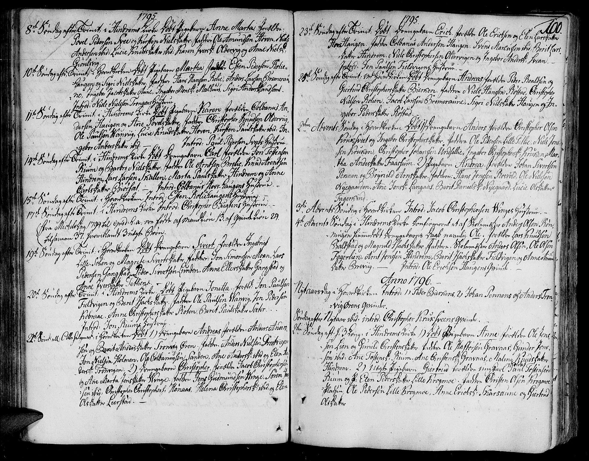 SAT, Ministerialprotokoller, klokkerbøker og fødselsregistre - Nord-Trøndelag, 701/L0004: Ministerialbok nr. 701A04, 1783-1816, s. 100
