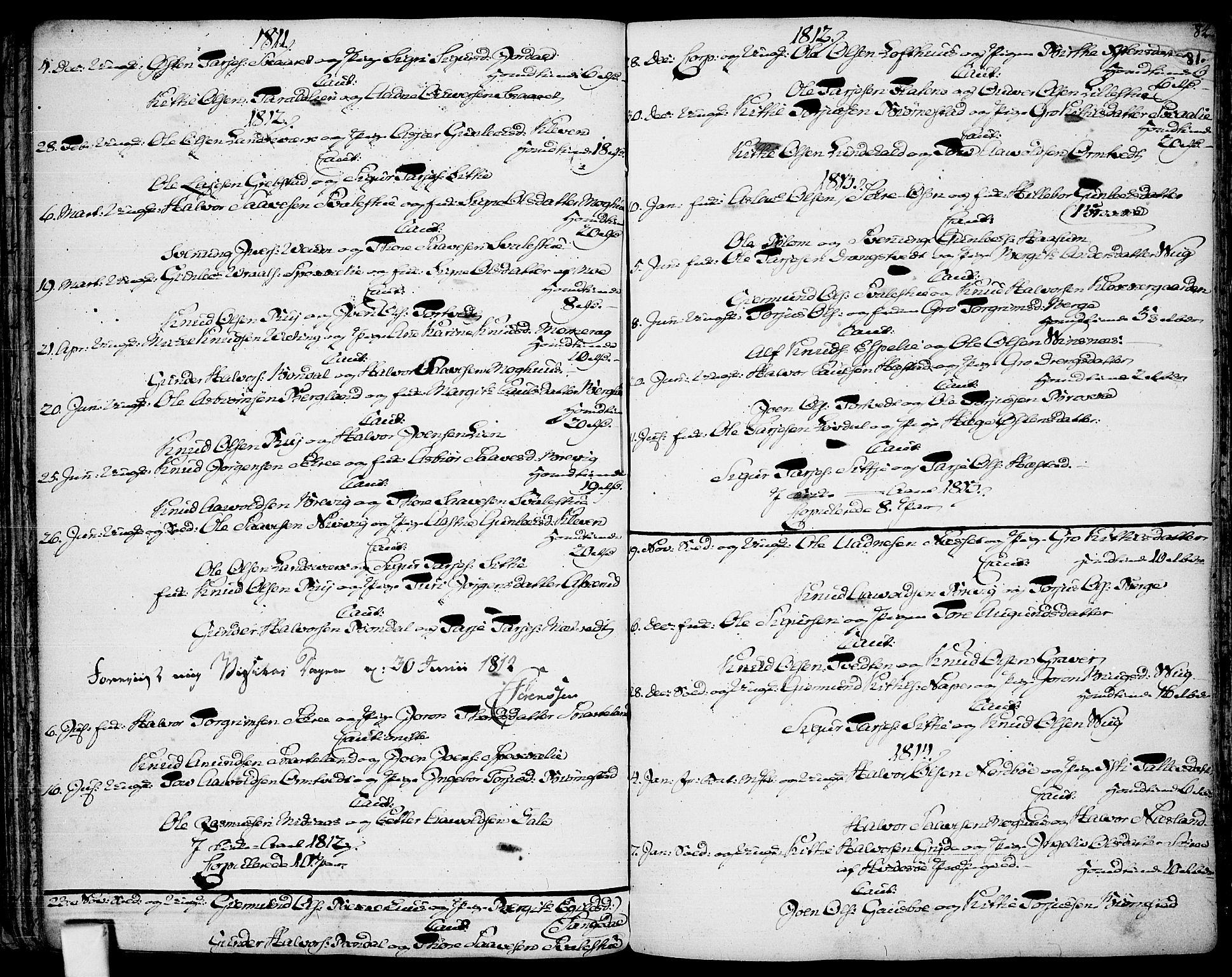 SAKO, Fyresdal kirkebøker, F/Fa/L0002: Ministerialbok nr. I 2, 1769-1814, s. 81