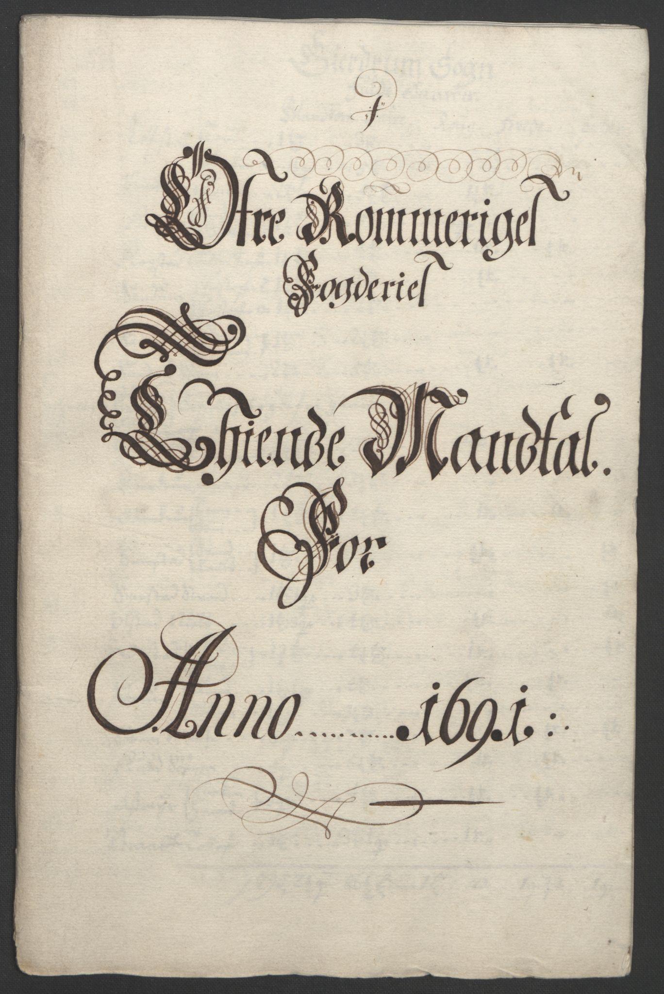 RA, Rentekammeret inntil 1814, Reviderte regnskaper, Fogderegnskap, R12/L0703: Fogderegnskap Øvre Romerike, 1691, s. 13