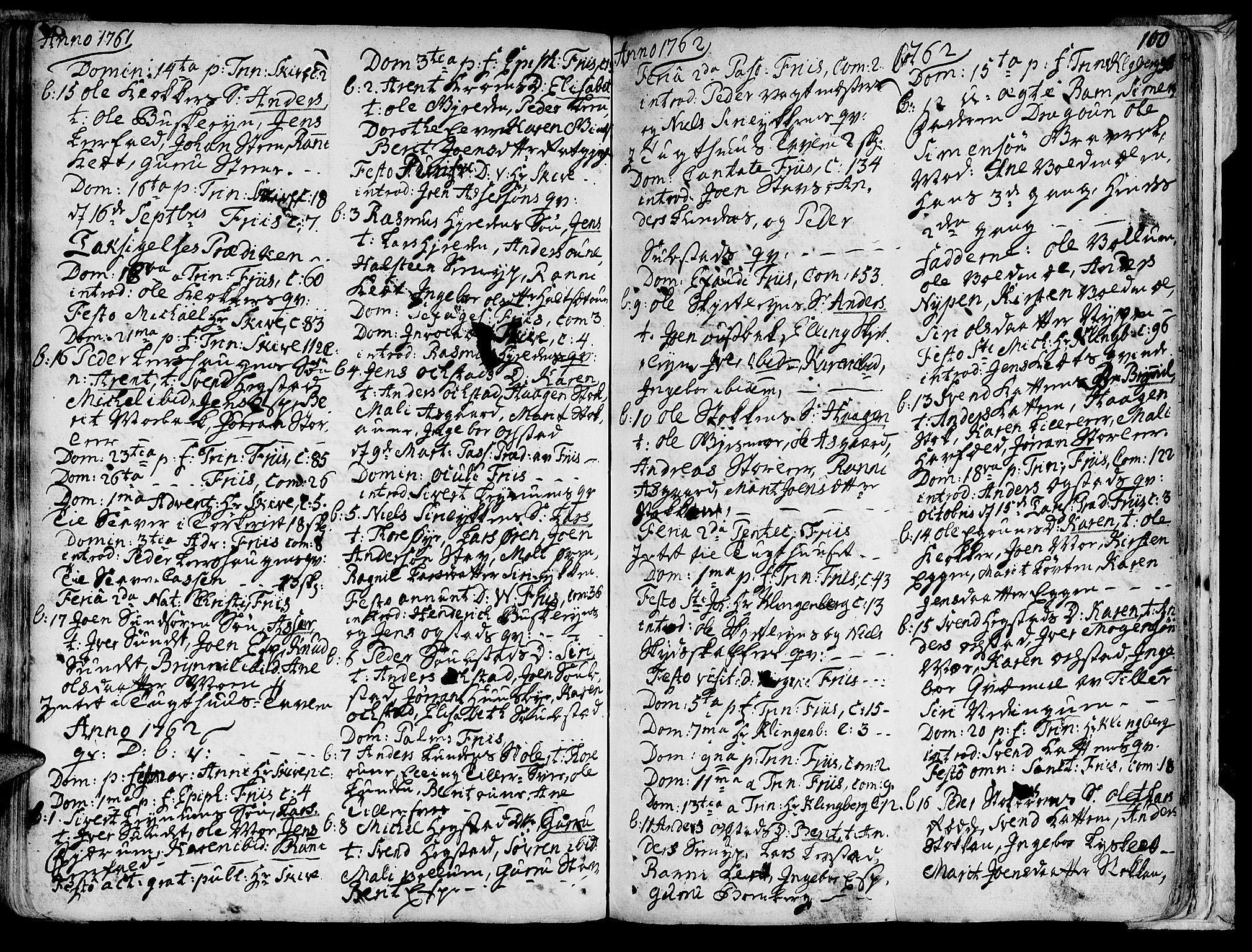 SAT, Ministerialprotokoller, klokkerbøker og fødselsregistre - Sør-Trøndelag, 691/L1059: Ministerialbok nr. 691A01 /3, 1740-1767, s. 100