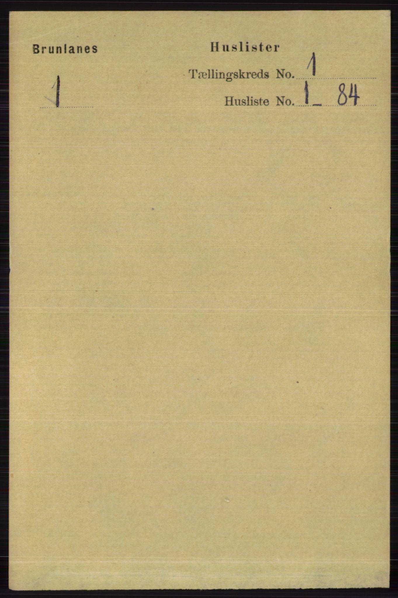 RA, Folketelling 1891 for 0726 Brunlanes herred, 1891, s. 35