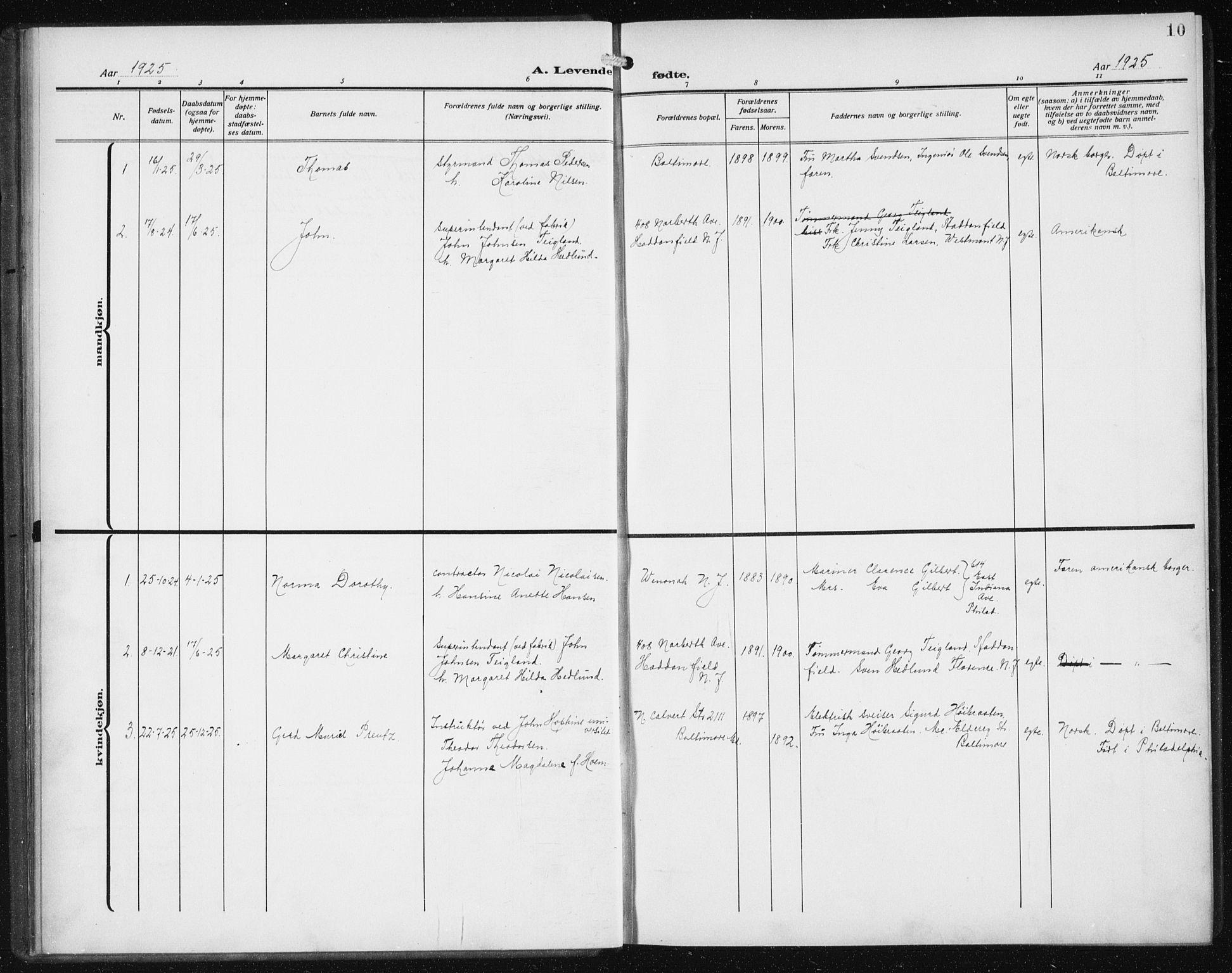 SAB, Den Norske Sjømannsmisjon i utlandet*, Ministerialbok nr. A 1, 1912-1931, s. 10