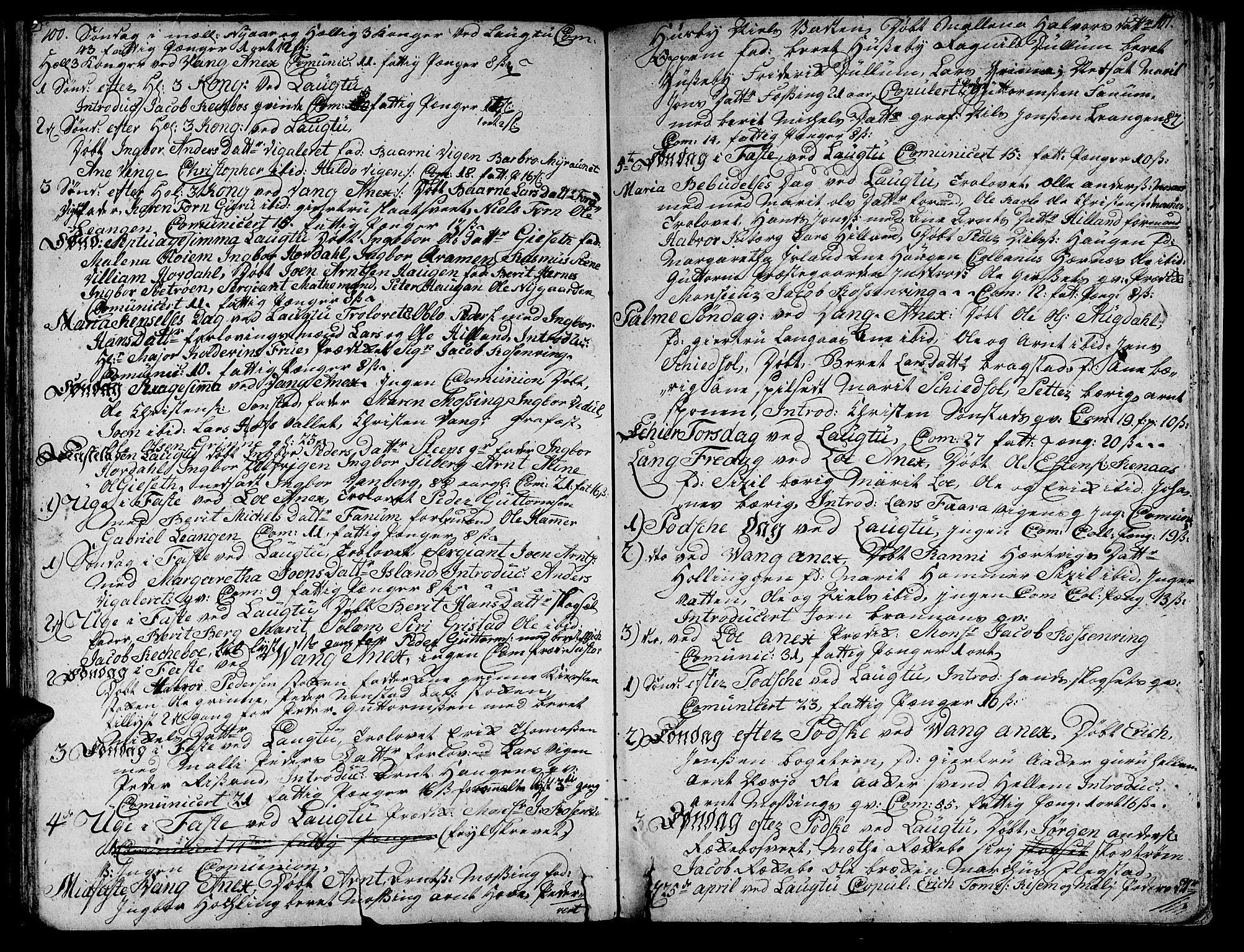 SAT, Ministerialprotokoller, klokkerbøker og fødselsregistre - Nord-Trøndelag, 713/L0109: Ministerialbok nr. 713A01, 1750-1778, s. 100-101