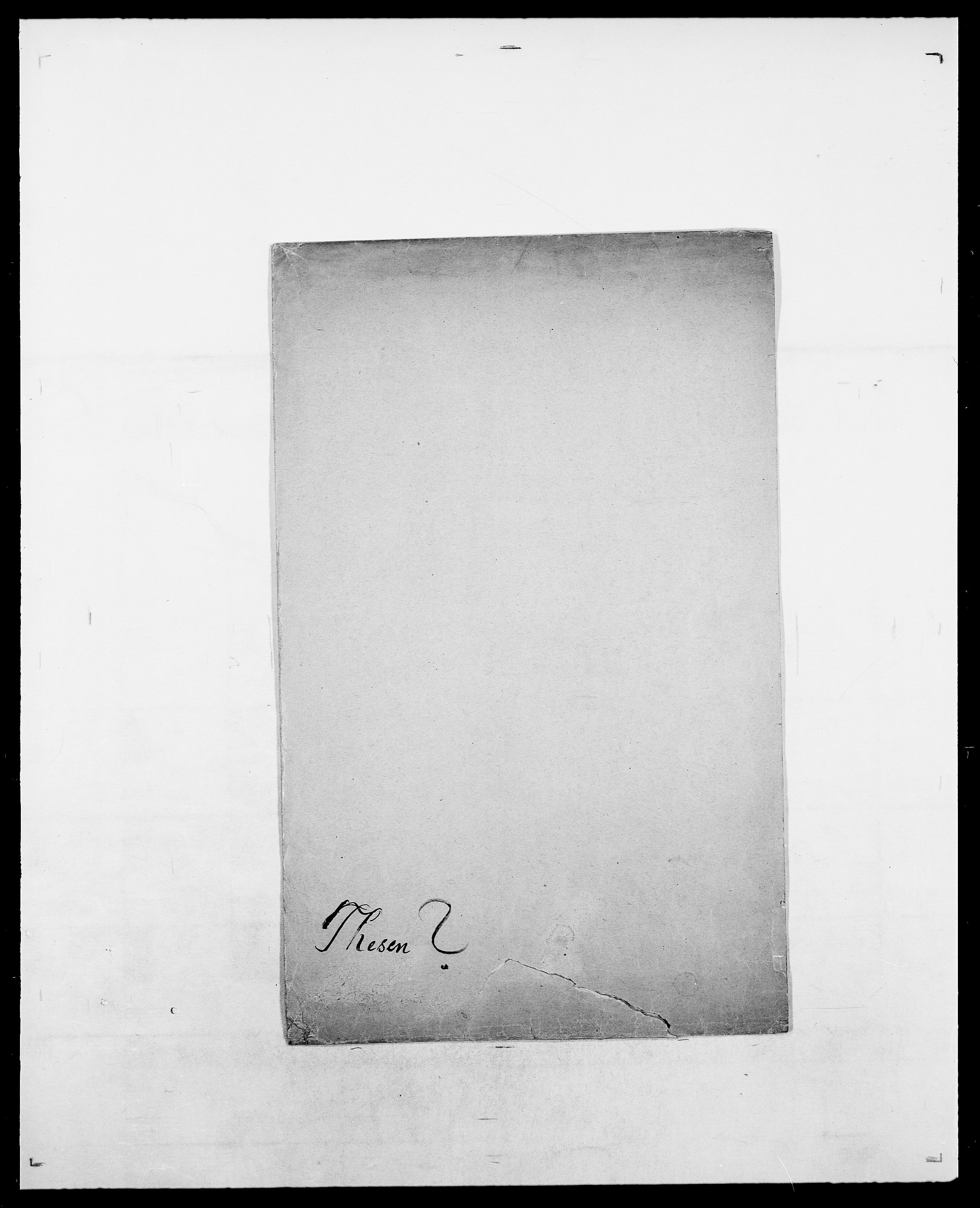 SAO, Delgobe, Charles Antoine - samling, D/Da/L0038: Svanenskjold - Thornsohn, s. 491
