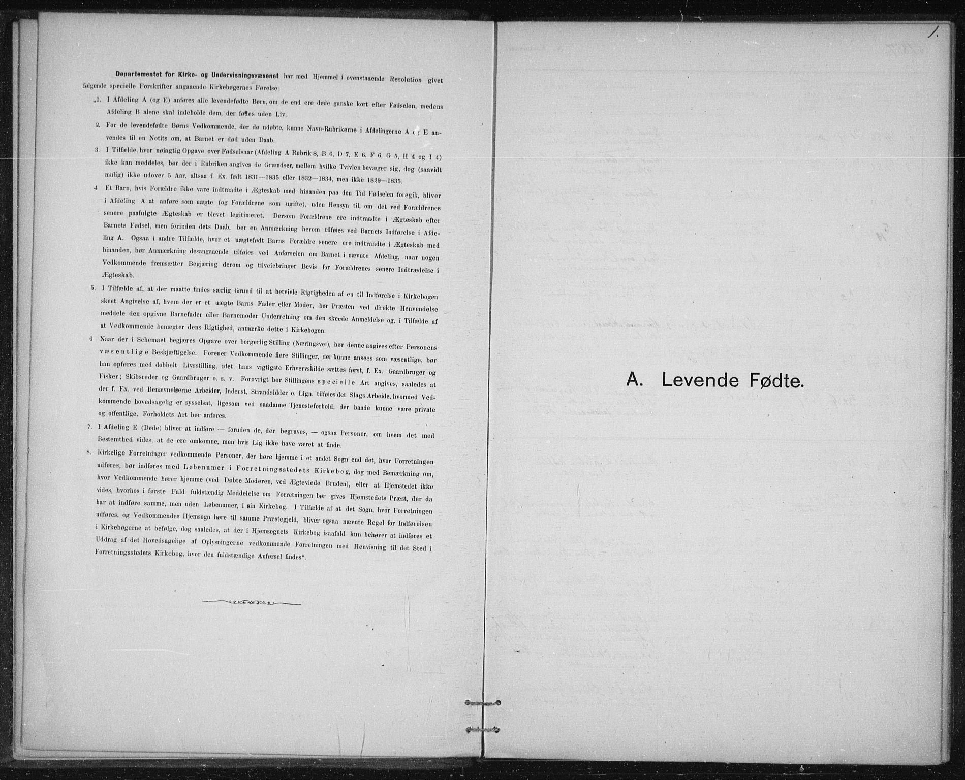 SAT, Ministerialprotokoller, klokkerbøker og fødselsregistre - Sør-Trøndelag, 613/L0392: Ministerialbok nr. 613A01, 1887-1906, s. 1