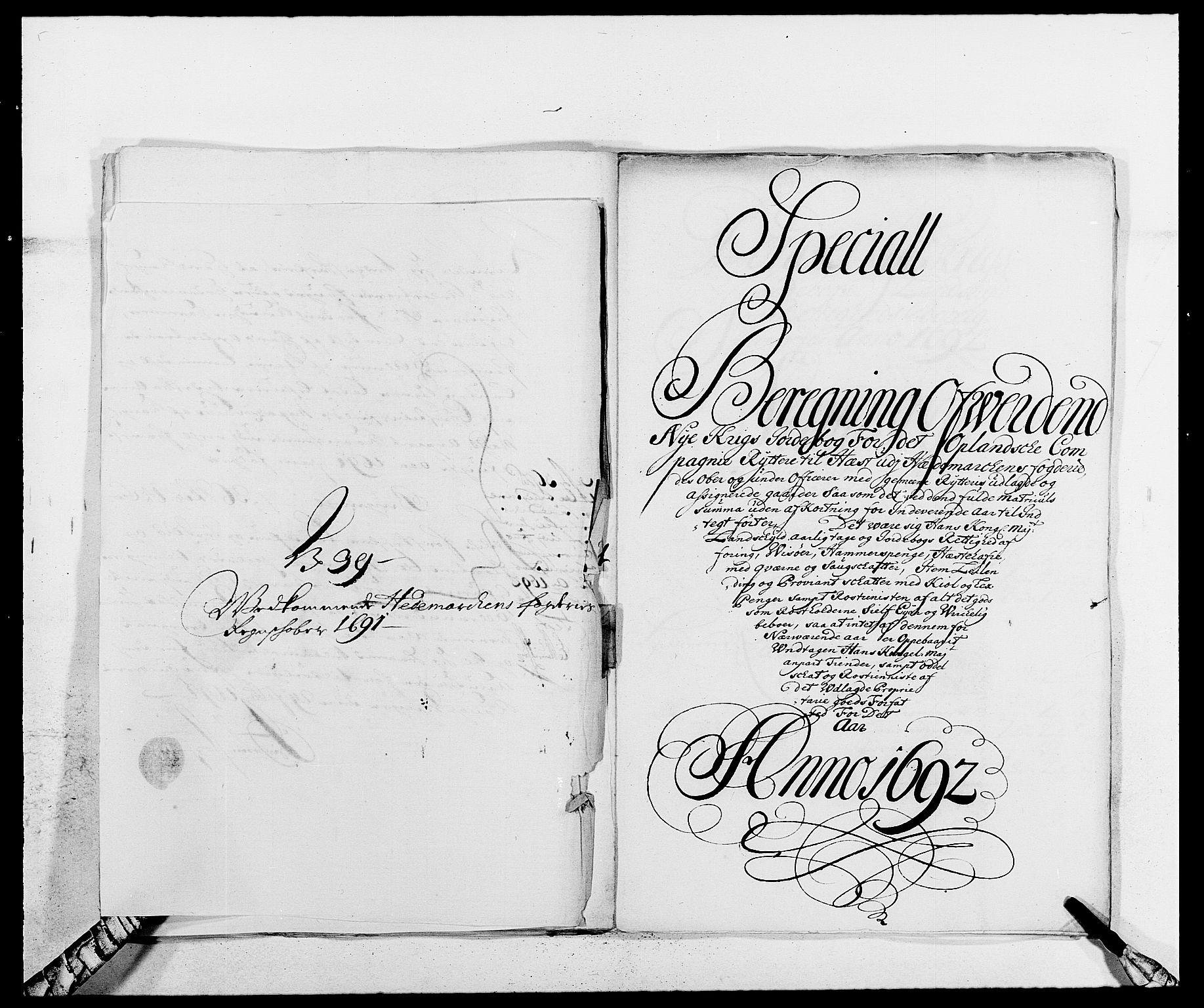 RA, Rentekammeret inntil 1814, Reviderte regnskaper, Fogderegnskap, R16/L1032: Fogderegnskap Hedmark, 1689-1692, s. 79