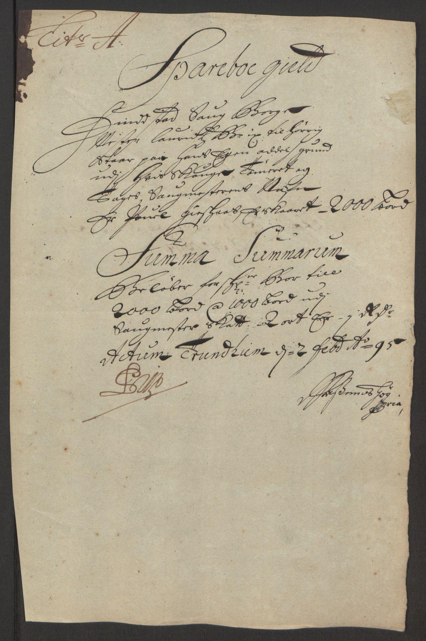 RA, Rentekammeret inntil 1814, Reviderte regnskaper, Fogderegnskap, R63/L4308: Fogderegnskap Inderøy, 1692-1694, s. 531