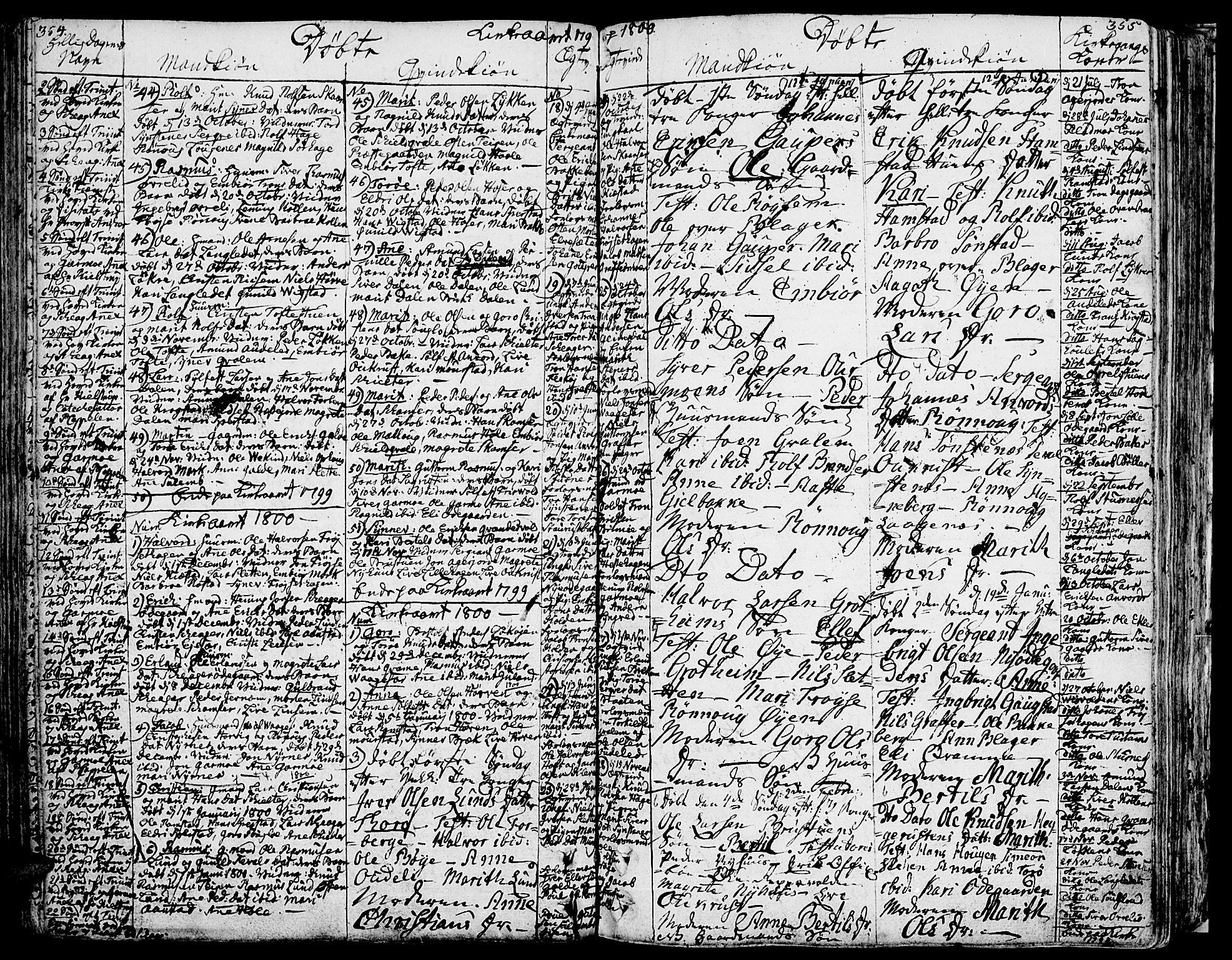 SAH, Lom prestekontor, K/L0002: Ministerialbok nr. 2, 1749-1801, s. 354-355