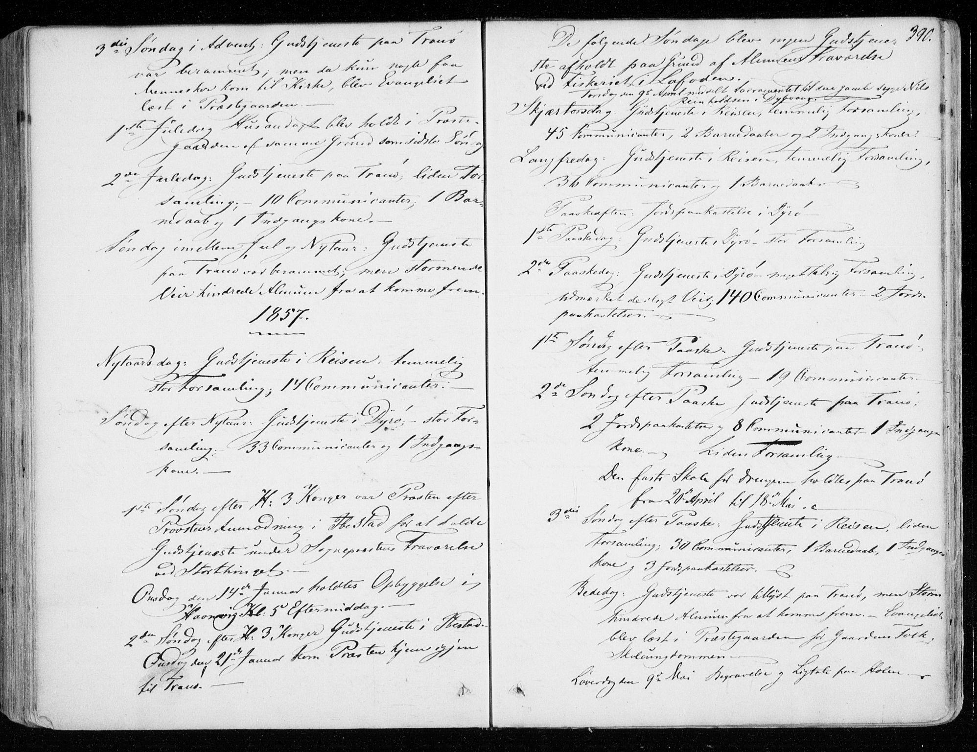SATØ, Tranøy sokneprestkontor, I/Ia/Iaa/L0007kirke: Ministerialbok nr. 7, 1856-1866, s. 390