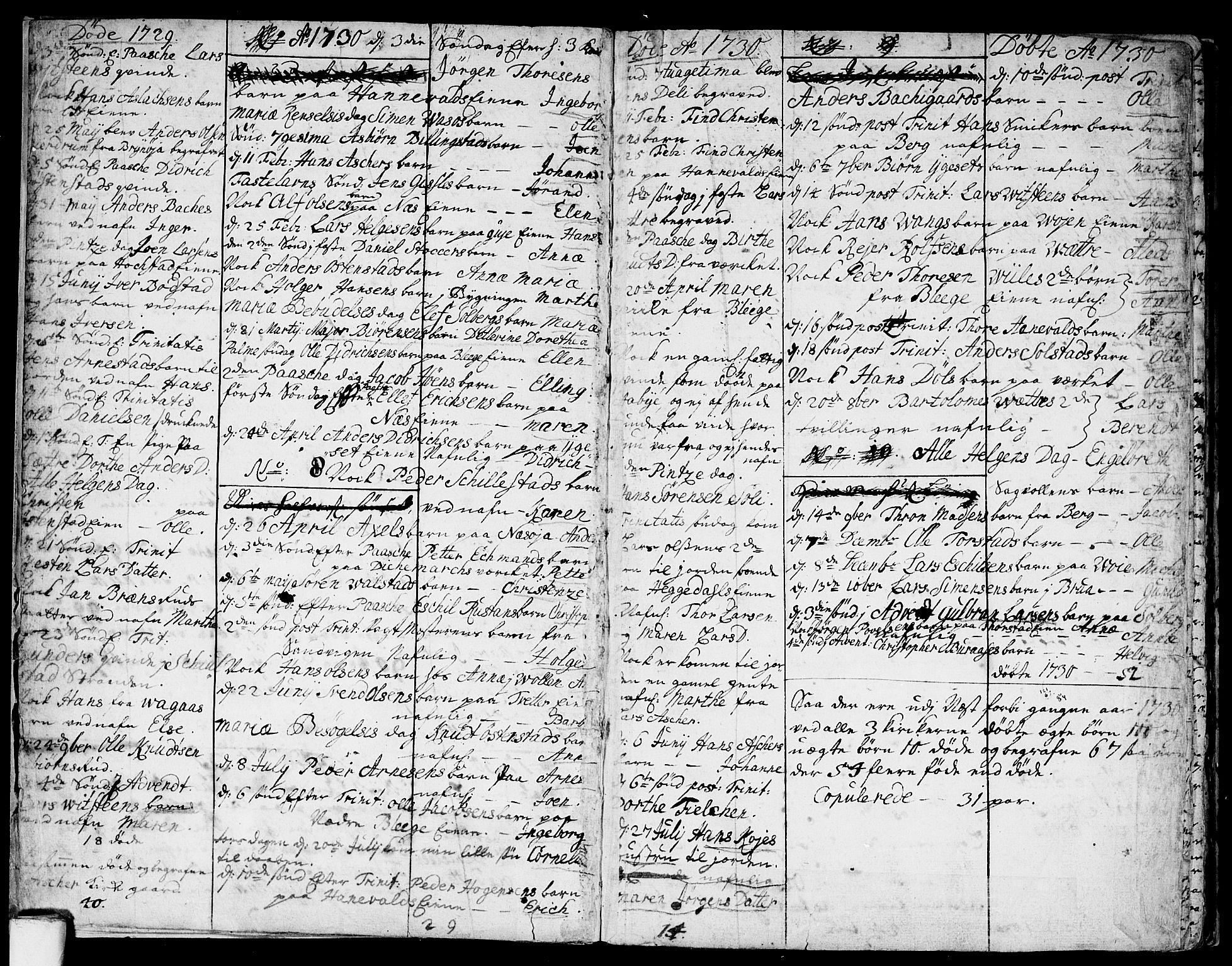SAO, Asker prestekontor Kirkebøker, F/Fa/L0001: Ministerialbok nr. I 1, 1726-1744, s. 5