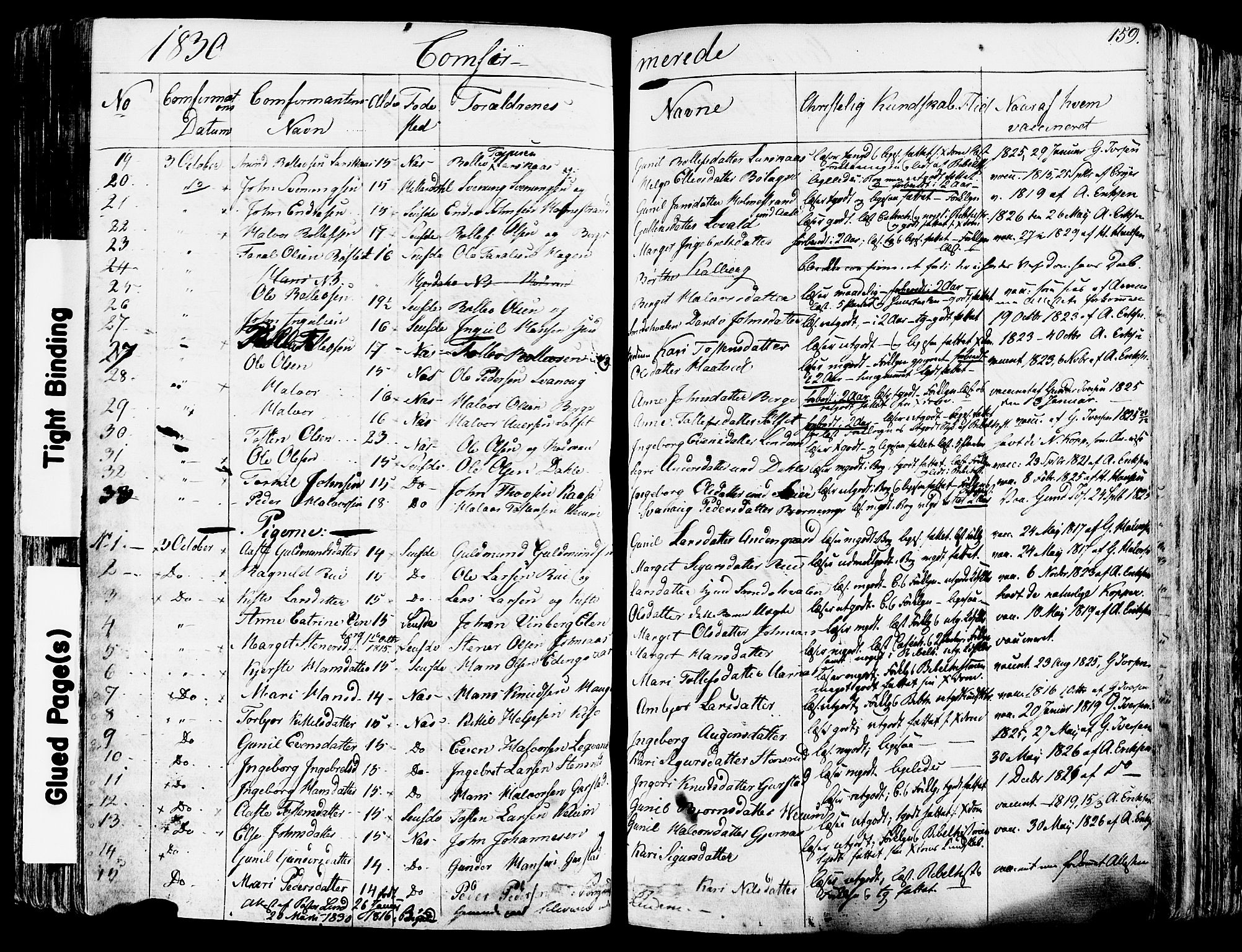 SAKO, Sauherad kirkebøker, F/Fa/L0006: Ministerialbok nr. I 6, 1827-1850, s. 159