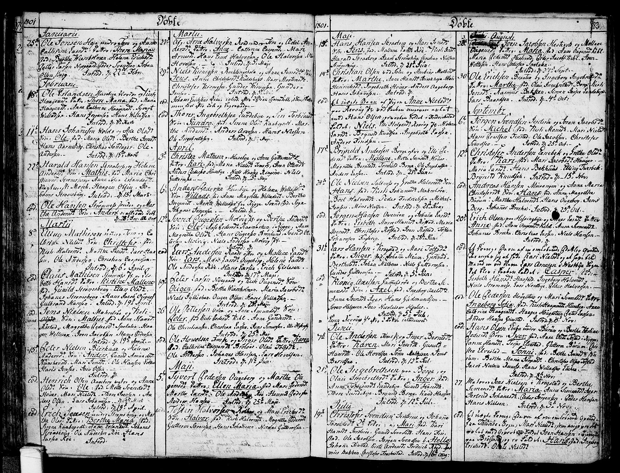 SAO, Råde prestekontor kirkebøker, F/Fa/L0002: Ministerialbok nr. 2, 1762-1806, s. 83