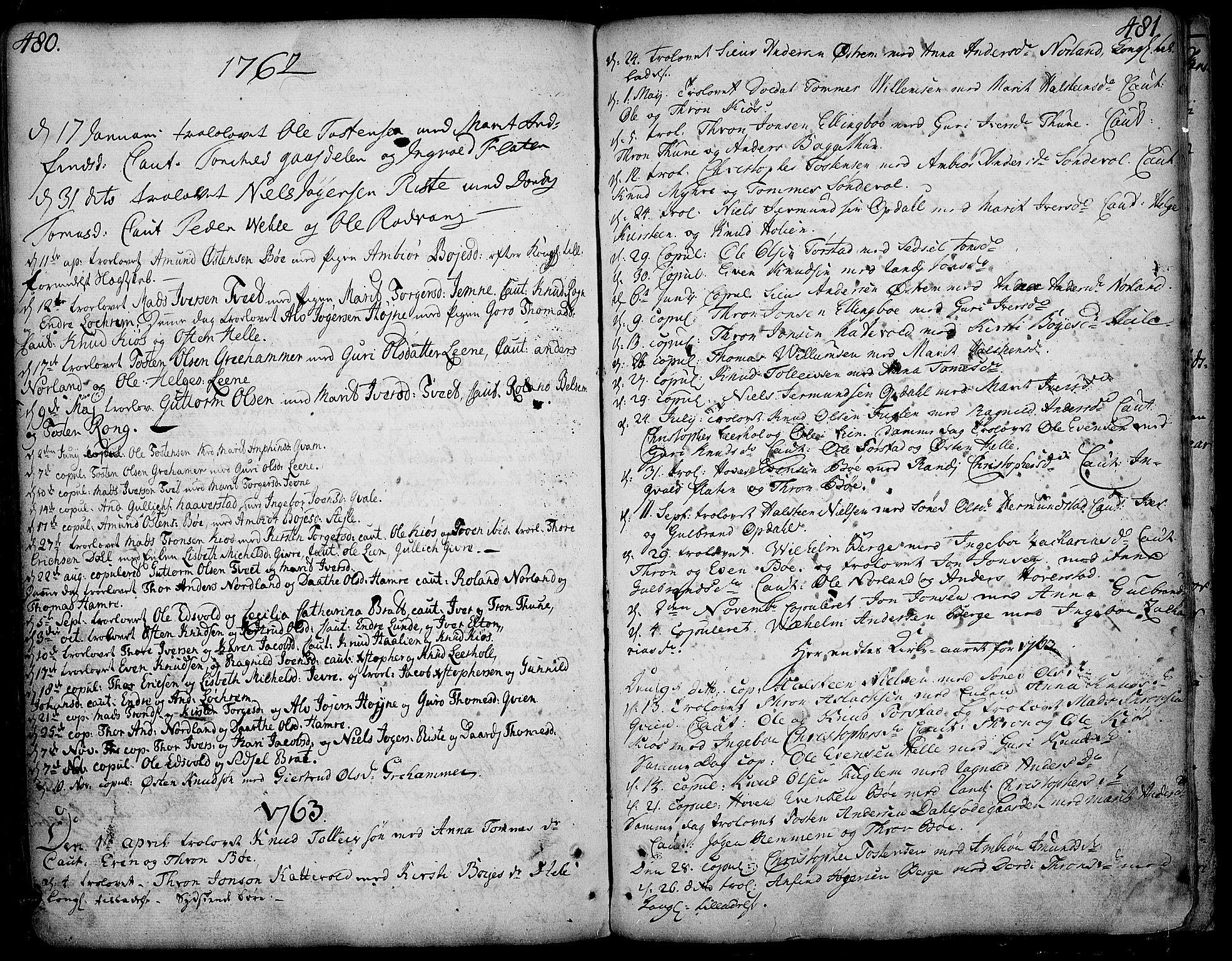 SAH, Vang prestekontor, Valdres, Ministerialbok nr. 1, 1730-1796, s. 480-481