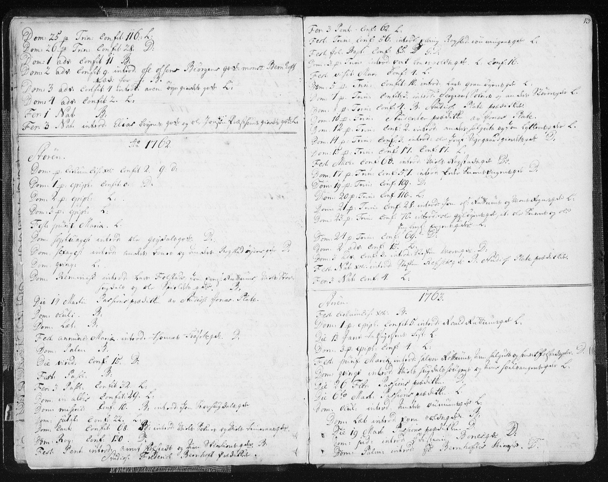 SAT, Ministerialprotokoller, klokkerbøker og fødselsregistre - Sør-Trøndelag, 687/L0991: Ministerialbok nr. 687A02, 1747-1790, s. 13