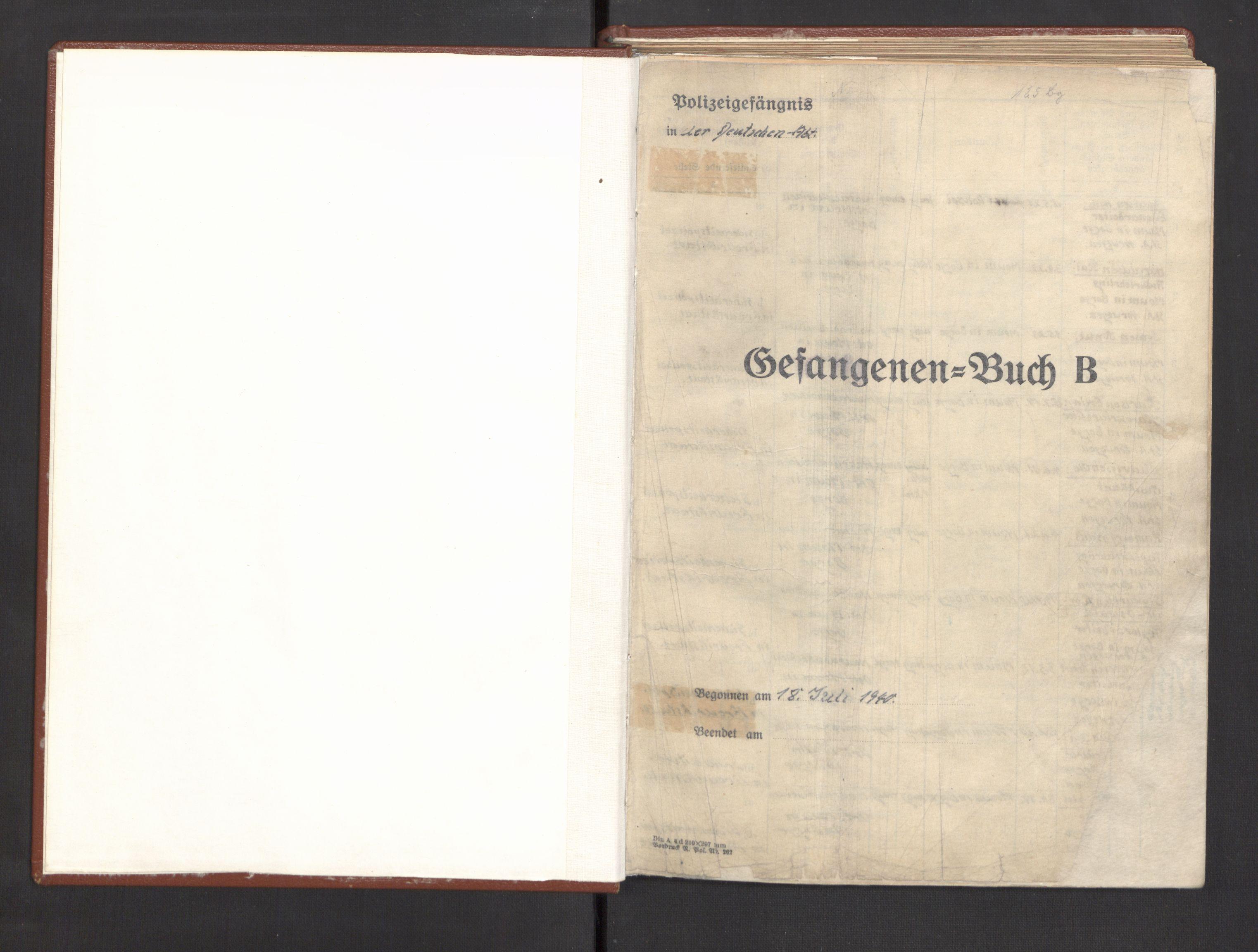 RA, Befehlshaber der Sicherheitspolizei und des SD, E/Ea/Eac/L0001: Fangeprotokoll (Gefangenebuch). Fangenr. 1-246, 1941-1942