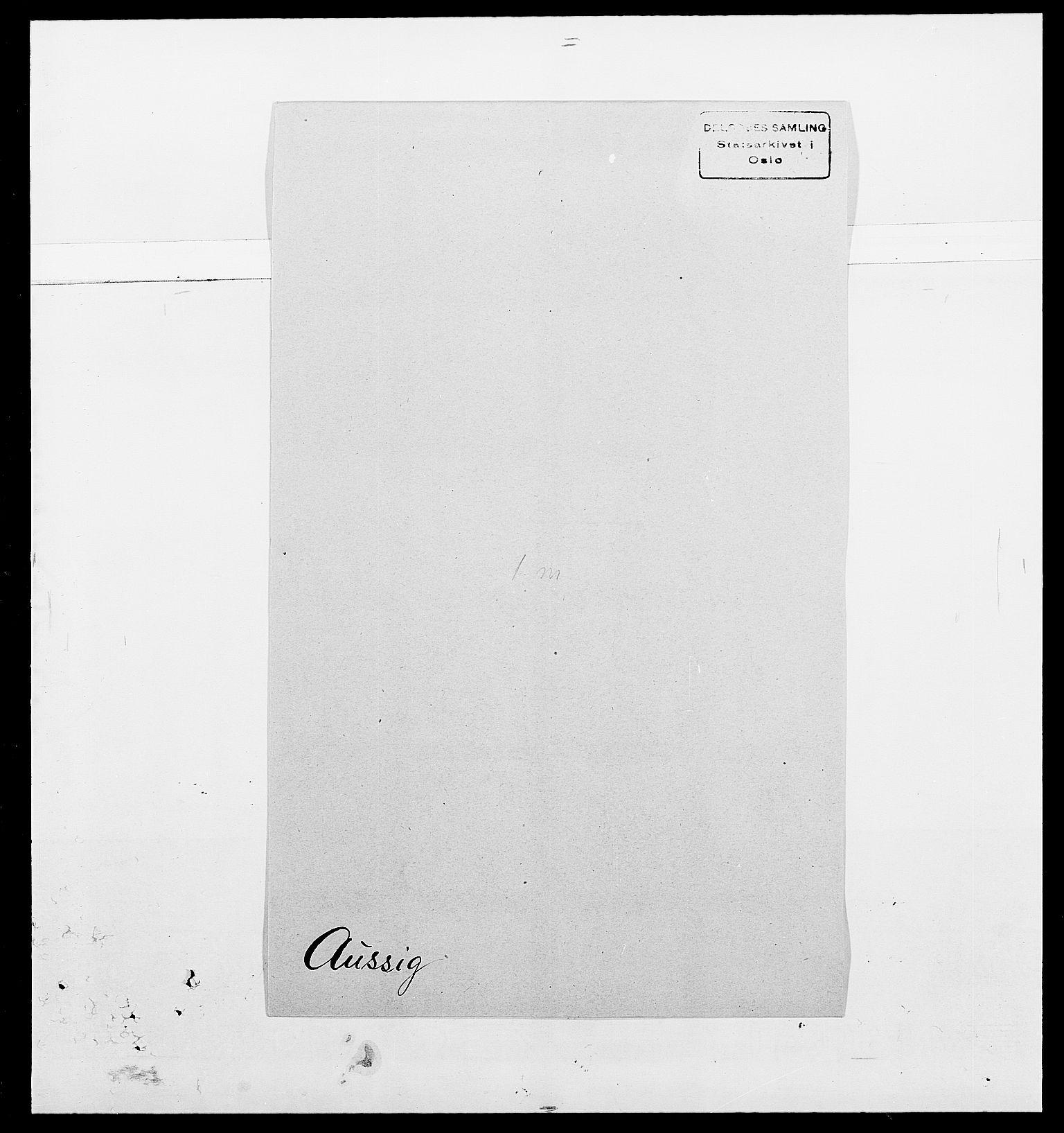 SAO, Delgobe, Charles Antoine - samling, D/Da/L0002: Anker, Ancher - Bauner, s. 523