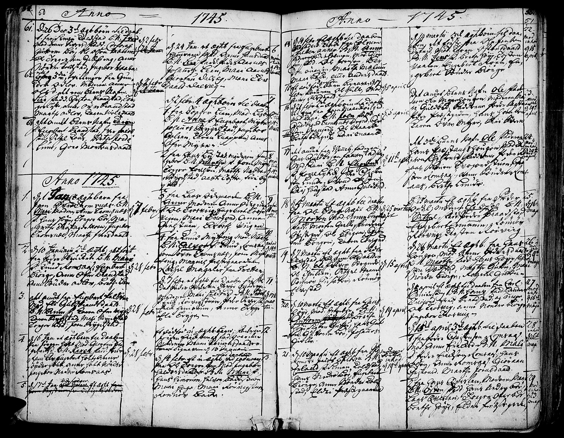 SAH, Ringebu prestekontor, Ministerialbok nr. 2, 1734-1780, s. 50-51