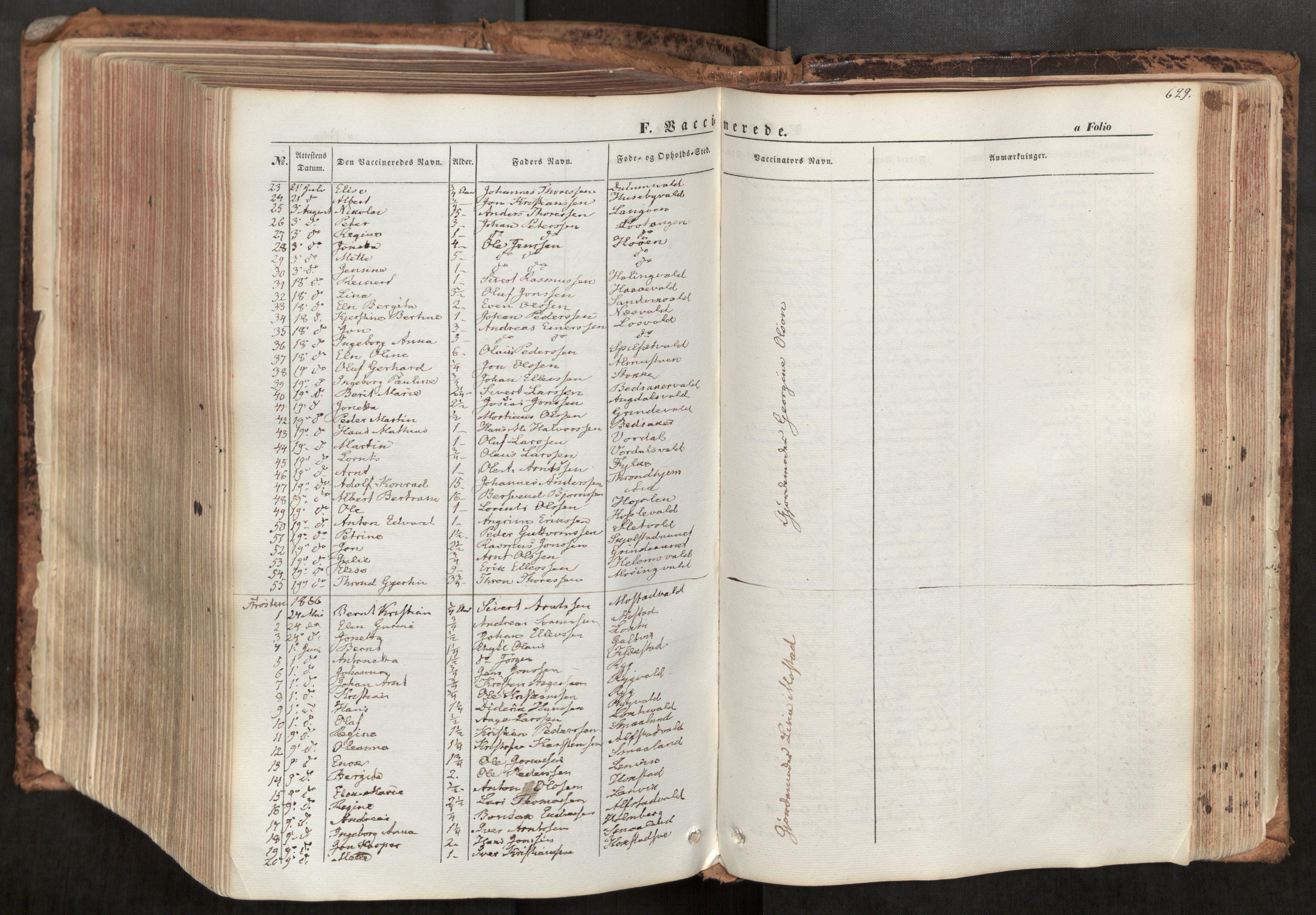 SAT, Ministerialprotokoller, klokkerbøker og fødselsregistre - Nord-Trøndelag, 713/L0116: Ministerialbok nr. 713A07, 1850-1877, s. 629
