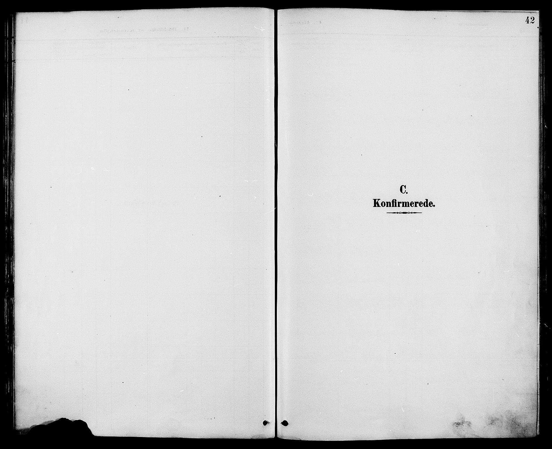 SAH, Biri prestekontor, Ministerialbok nr. 7, 1887-1893, s. 42