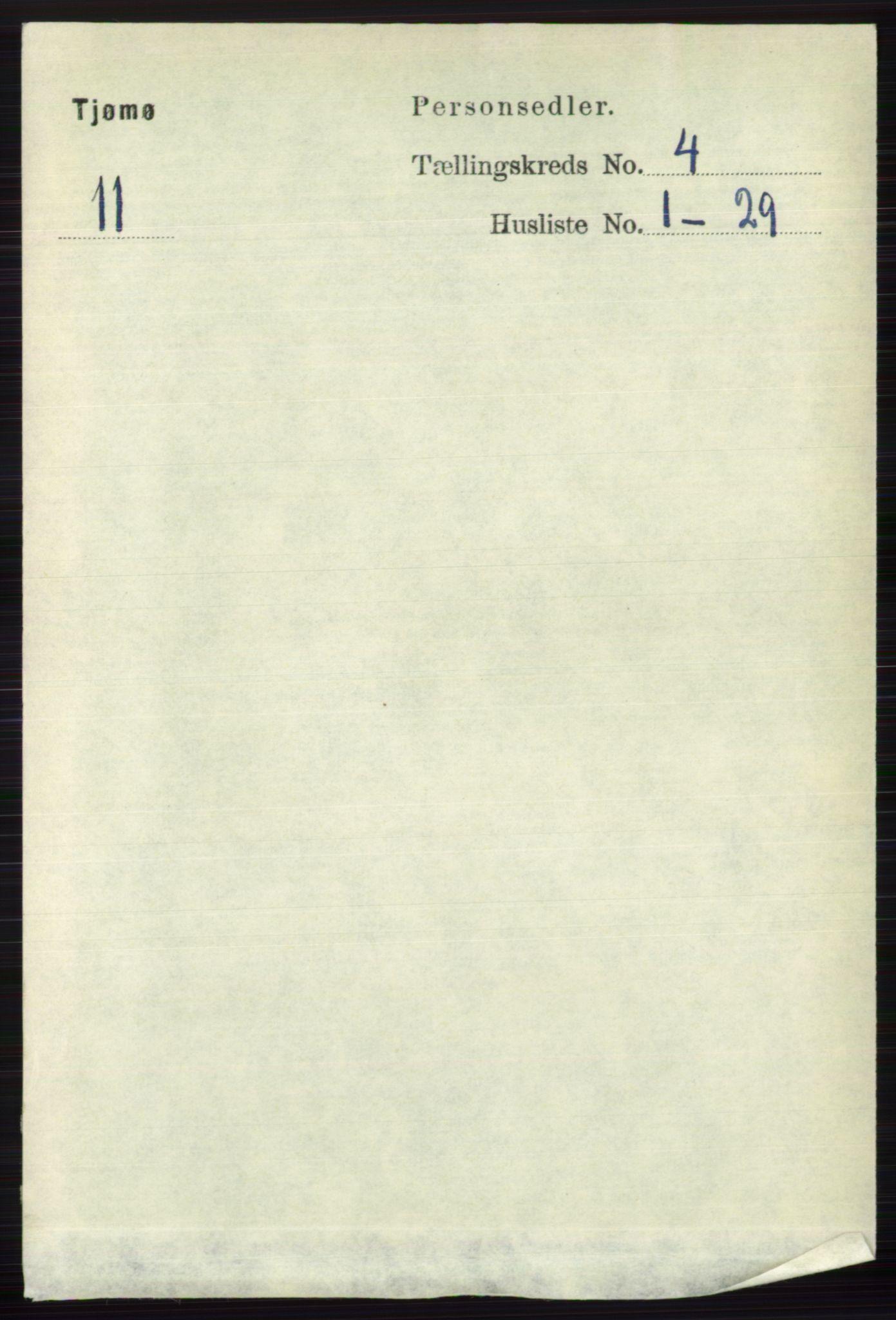 RA, Folketelling 1891 for 0723 Tjøme herred, 1891, s. 1270