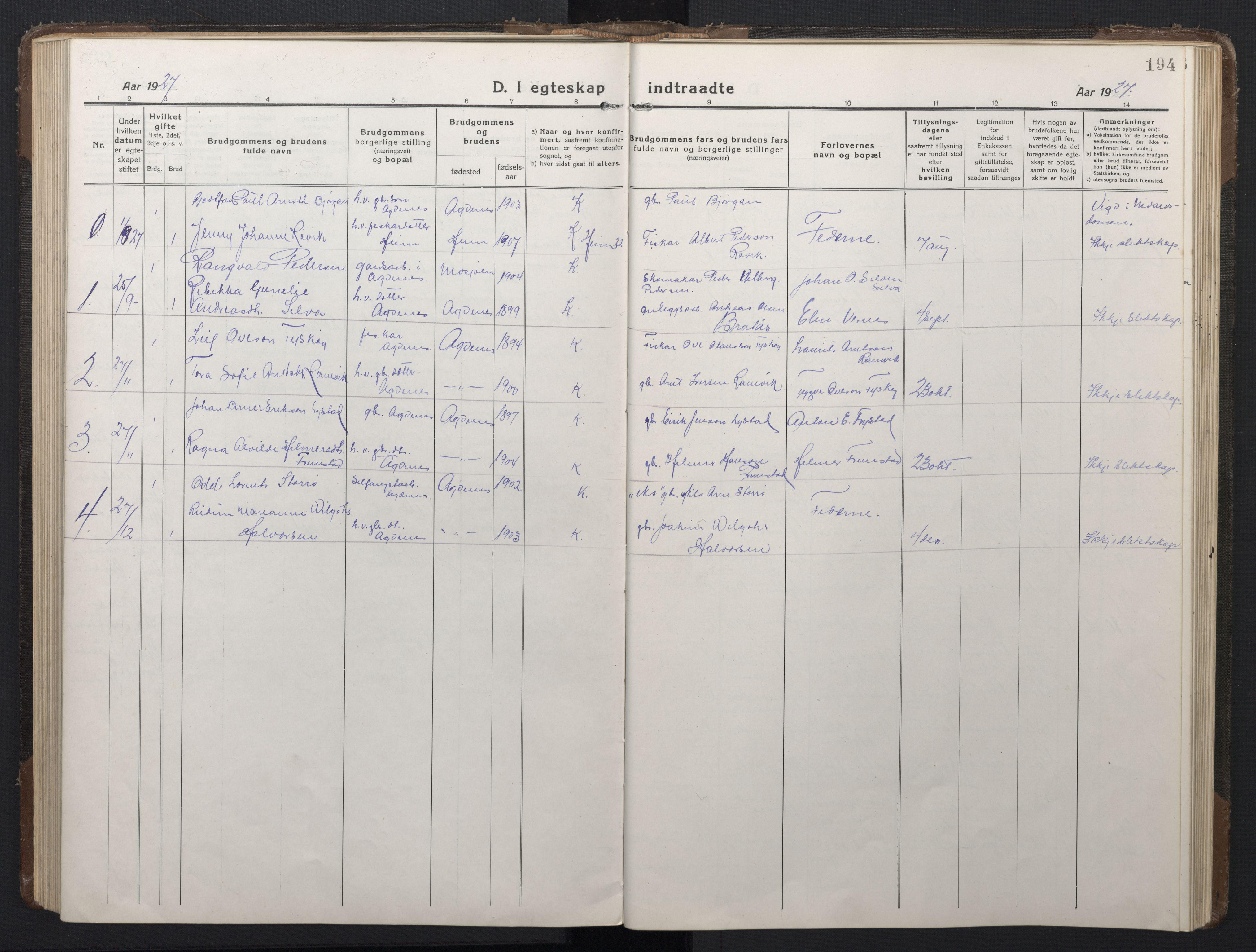 SAT, Ministerialprotokoller, klokkerbøker og fødselsregistre - Sør-Trøndelag, 662/L0758: Klokkerbok nr. 662C03, 1918-1948, s. 194
