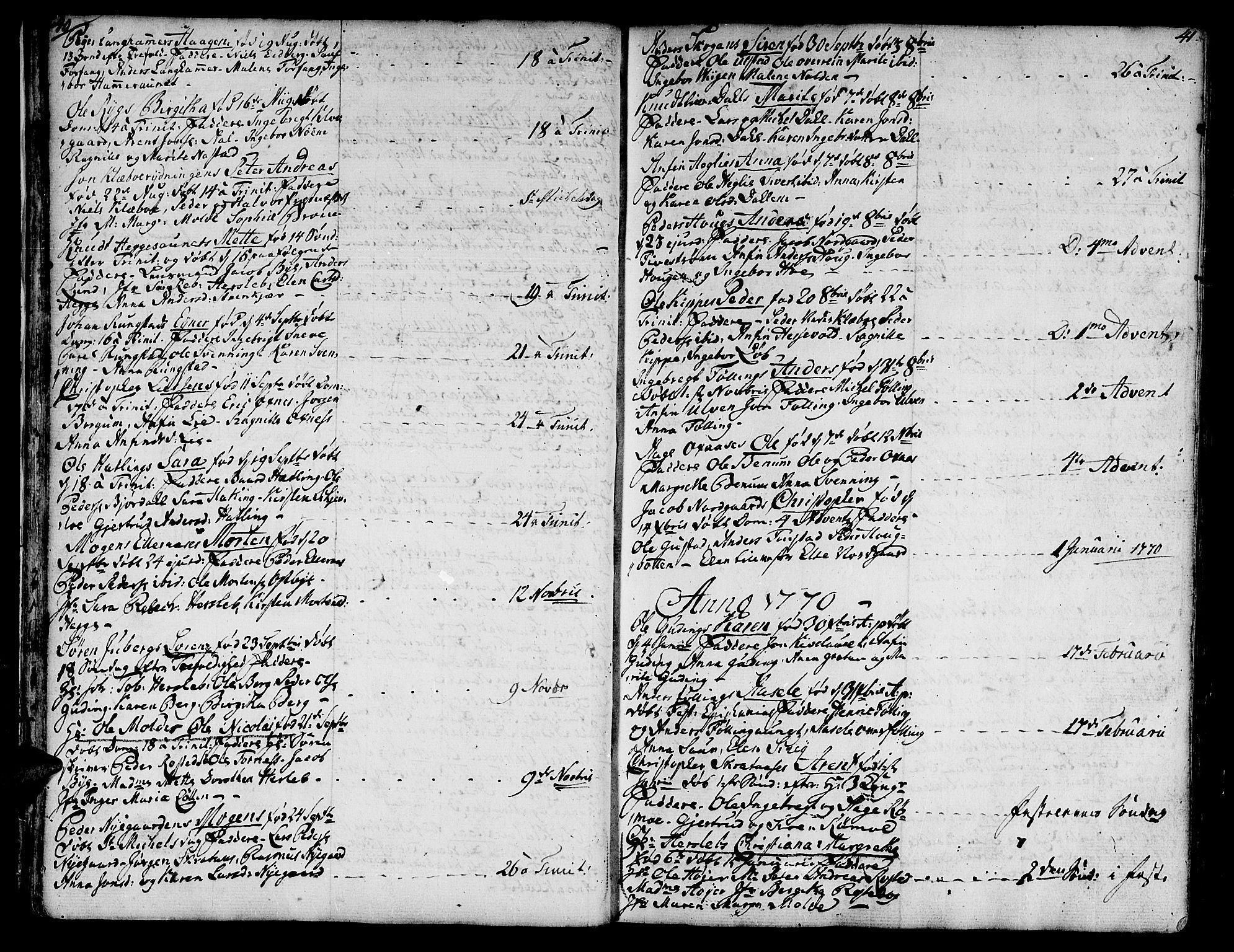 SAT, Ministerialprotokoller, klokkerbøker og fødselsregistre - Nord-Trøndelag, 746/L0440: Ministerialbok nr. 746A02, 1760-1815, s. 40-41