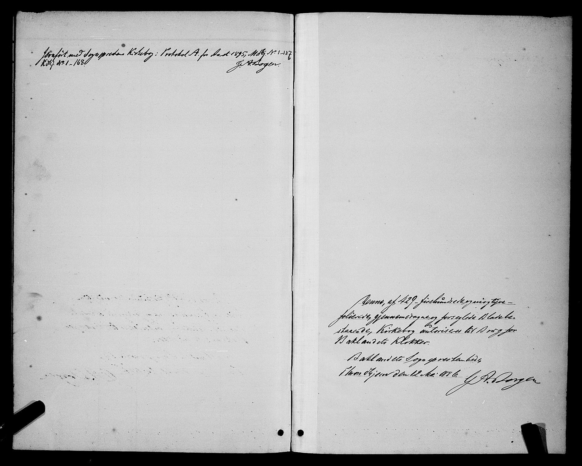 SAT, Ministerialprotokoller, klokkerbøker og fødselsregistre - Sør-Trøndelag, 604/L0222: Klokkerbok nr. 604C05, 1886-1895