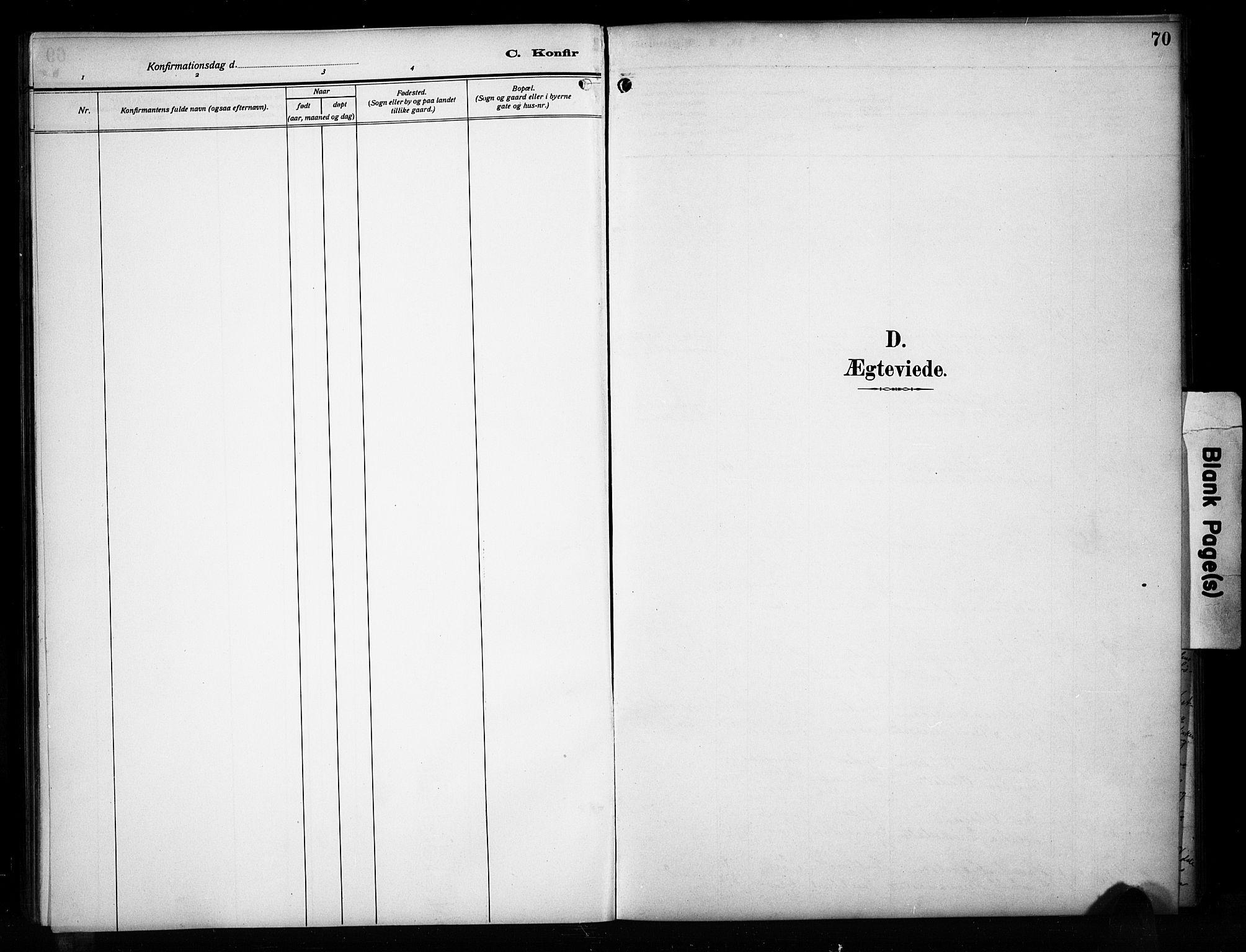 SAH, Sør-Aurdal prestekontor, Klokkerbok nr. 17, 1894-1923, s. 70