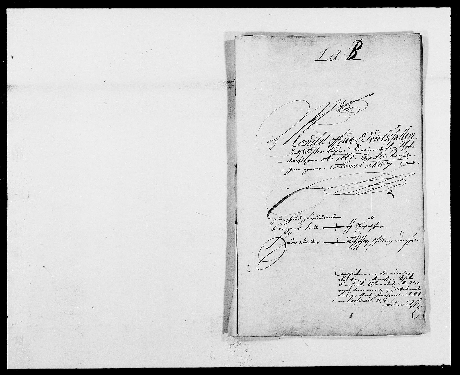 RA, Rentekammeret inntil 1814, Reviderte regnskaper, Fogderegnskap, R41/L2524: Fogderegnskap Lista, 1665-1668, s. 189