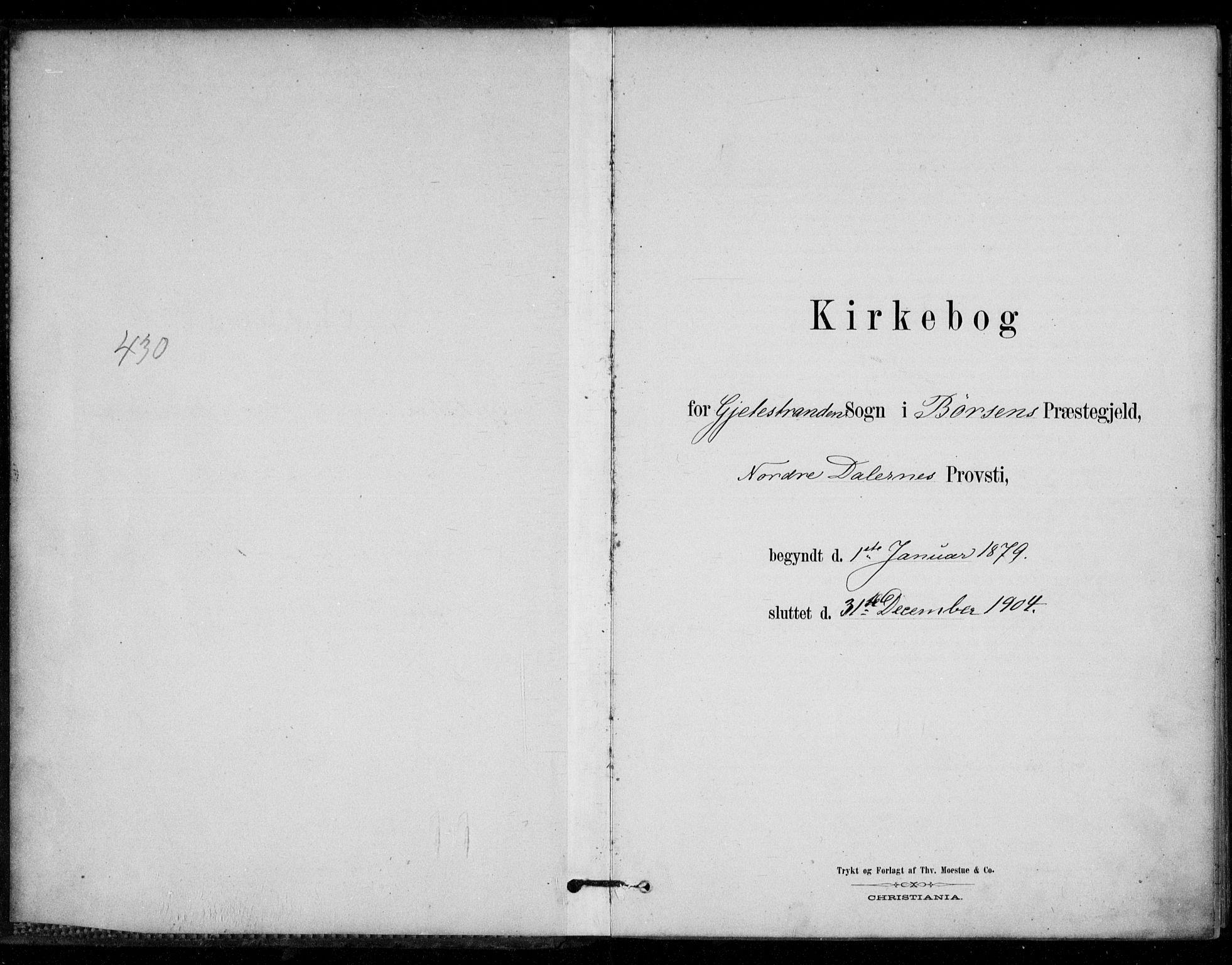SAT, Ministerialprotokoller, klokkerbøker og fødselsregistre - Sør-Trøndelag, 670/L0836: Ministerialbok nr. 670A01, 1879-1904