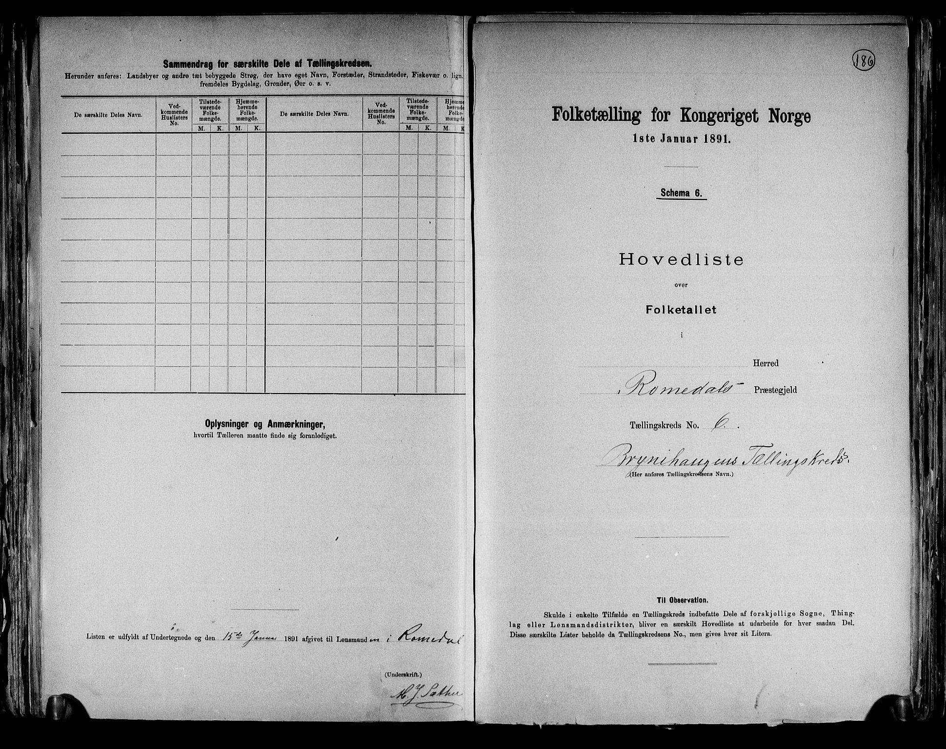 RA, Folketelling 1891 for 0416 Romedal herred, 1891, s. 15