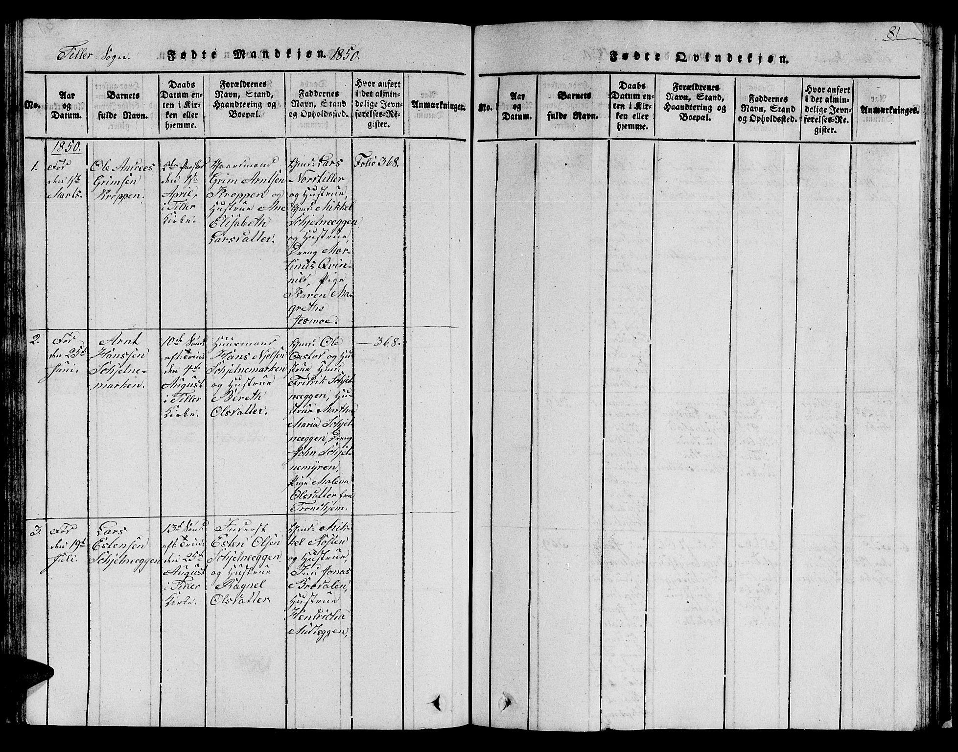 SAT, Ministerialprotokoller, klokkerbøker og fødselsregistre - Sør-Trøndelag, 621/L0458: Klokkerbok nr. 621C01, 1816-1865, s. 81