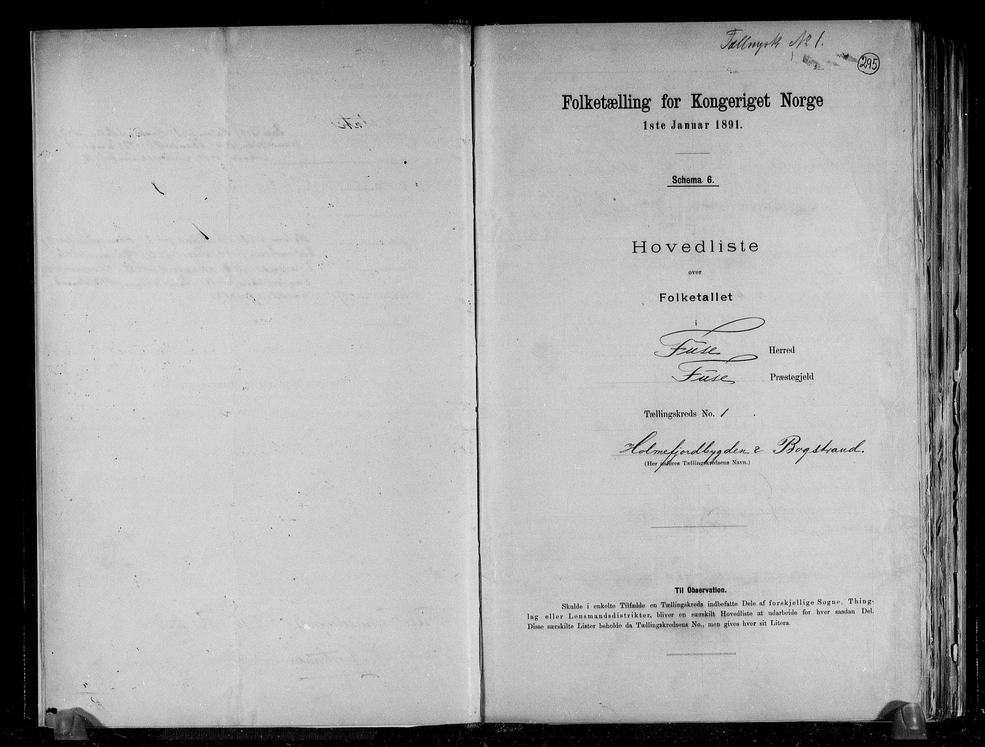 RA, Folketelling 1891 for 1241 Fusa herred, 1891, s. 4