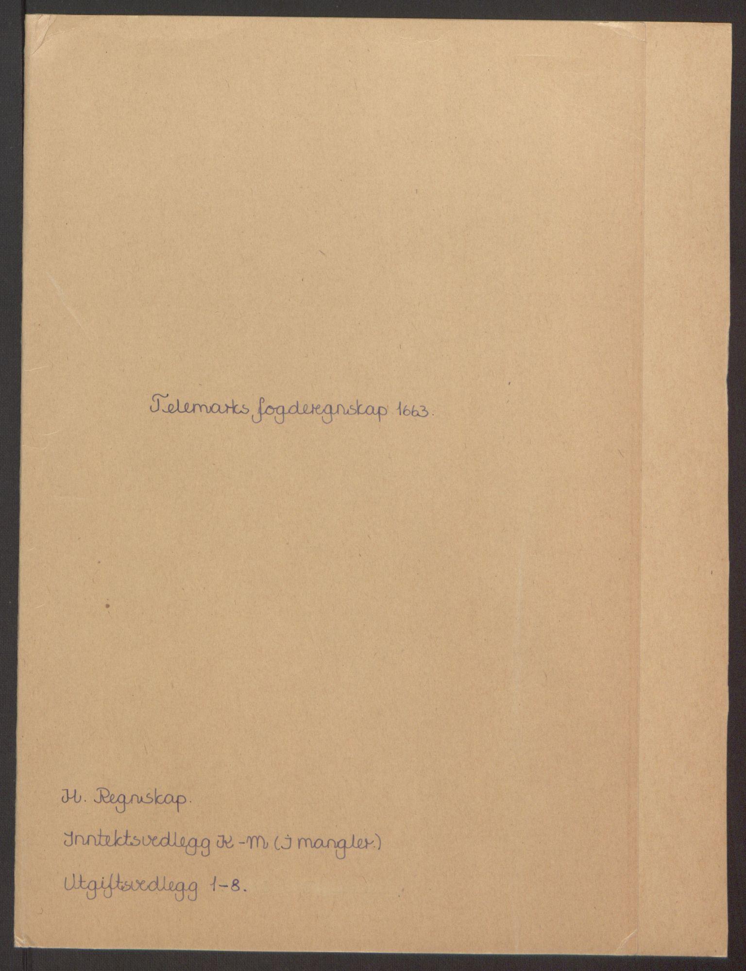 RA, Rentekammeret inntil 1814, Reviderte regnskaper, Fogderegnskap, R35/L2054: Fogderegnskap Øvre og Nedre Telemark, 1662-1663, s. 252