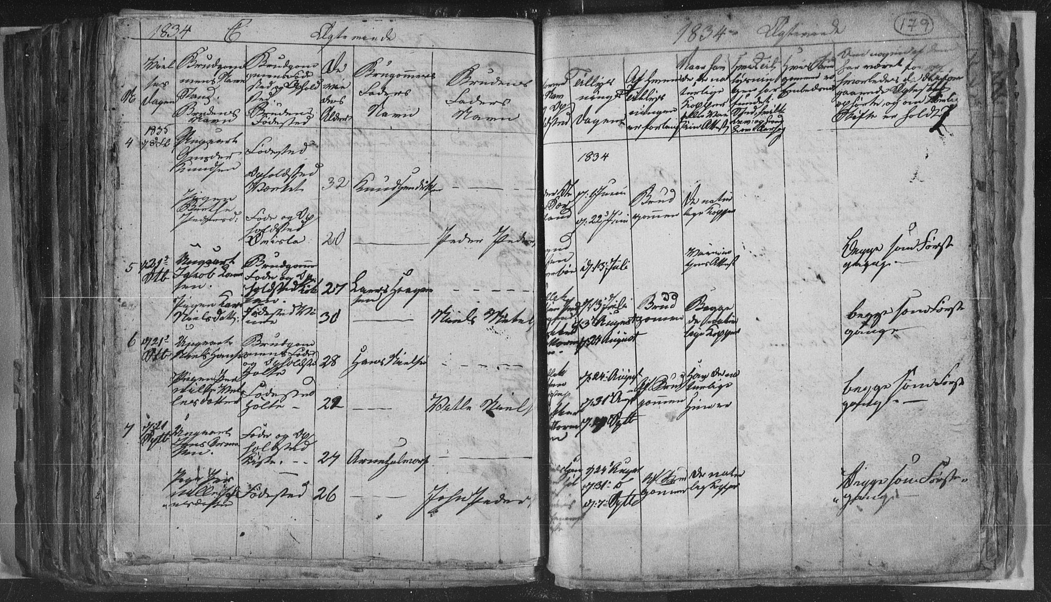 SAKO, Siljan kirkebøker, G/Ga/L0001: Klokkerbok nr. 1, 1827-1847, s. 179