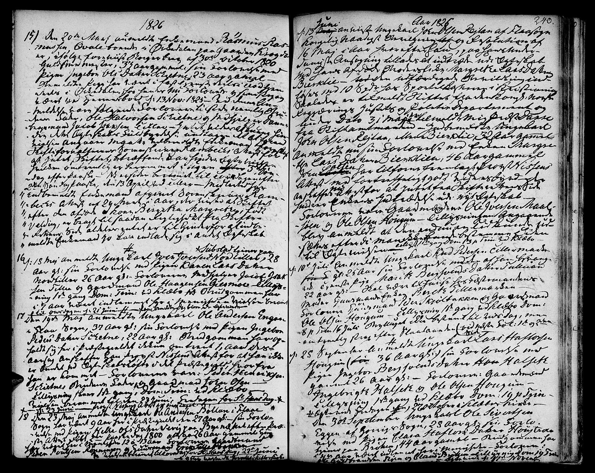 SAT, Ministerialprotokoller, klokkerbøker og fødselsregistre - Sør-Trøndelag, 618/L0438: Ministerialbok nr. 618A03, 1783-1815, s. 240