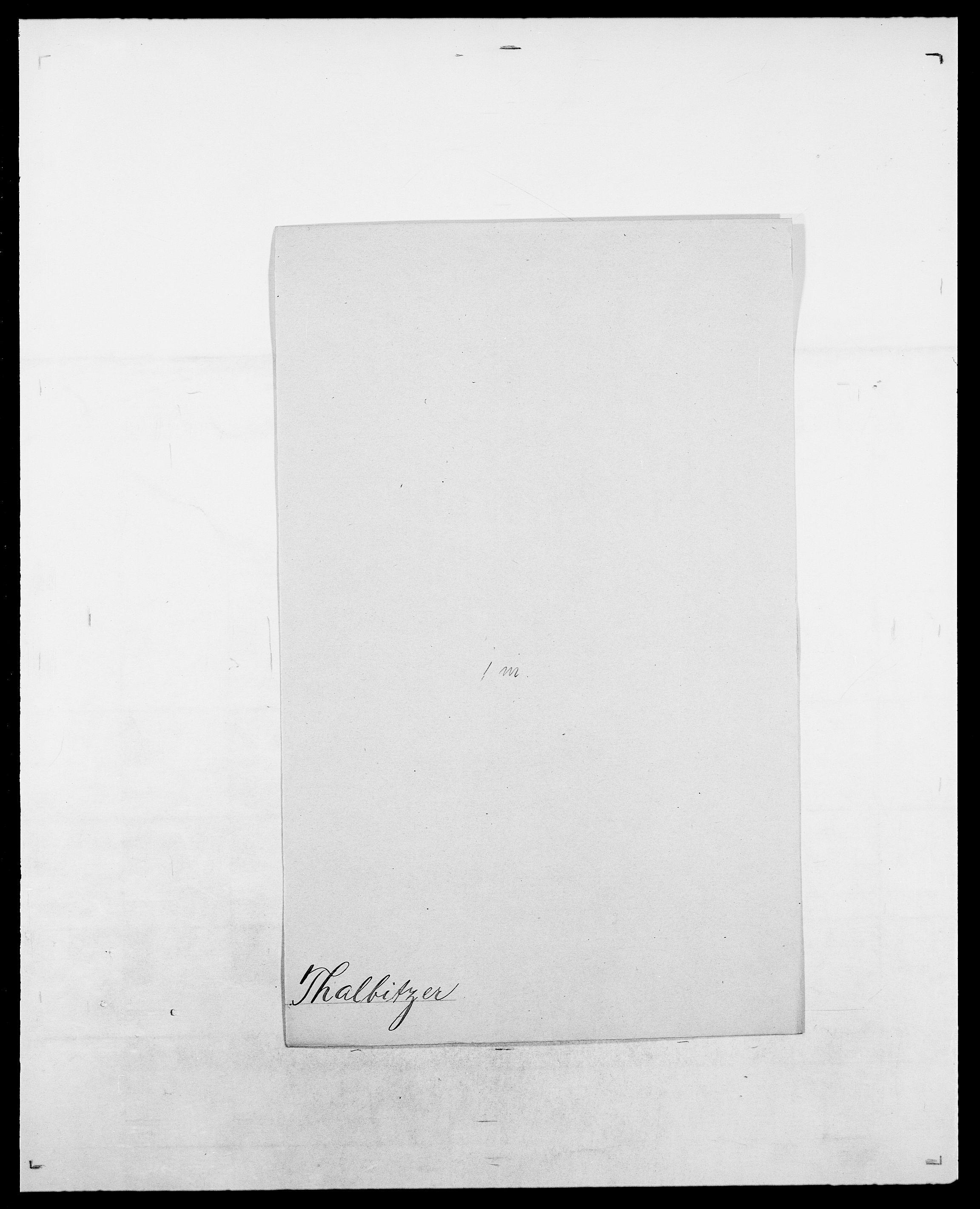 SAO, Delgobe, Charles Antoine - samling, D/Da/L0038: Svanenskjold - Thornsohn, s. 439