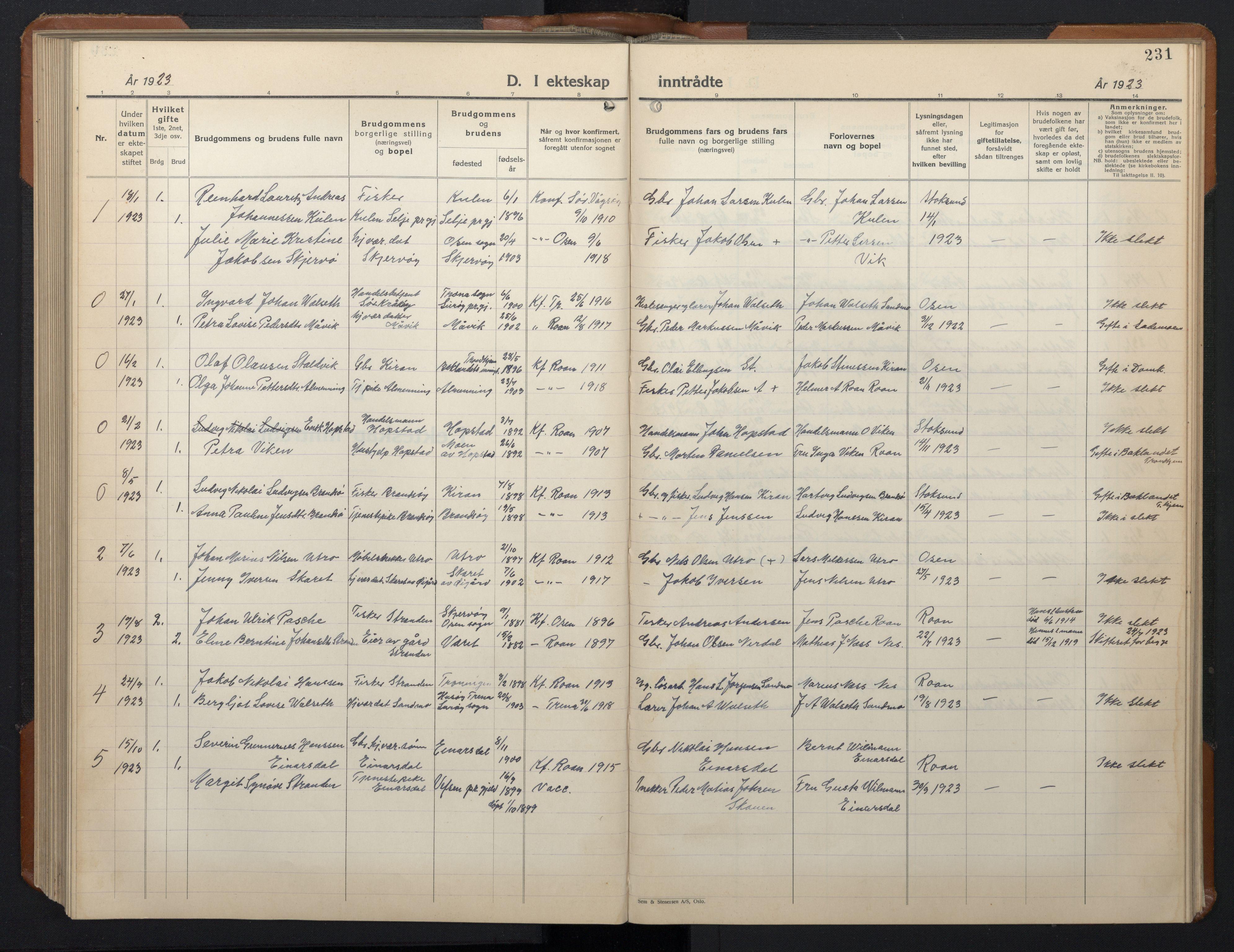 SAT, Ministerialprotokoller, klokkerbøker og fødselsregistre - Sør-Trøndelag, 657/L0718: Klokkerbok nr. 657C05, 1923-1948, s. 231