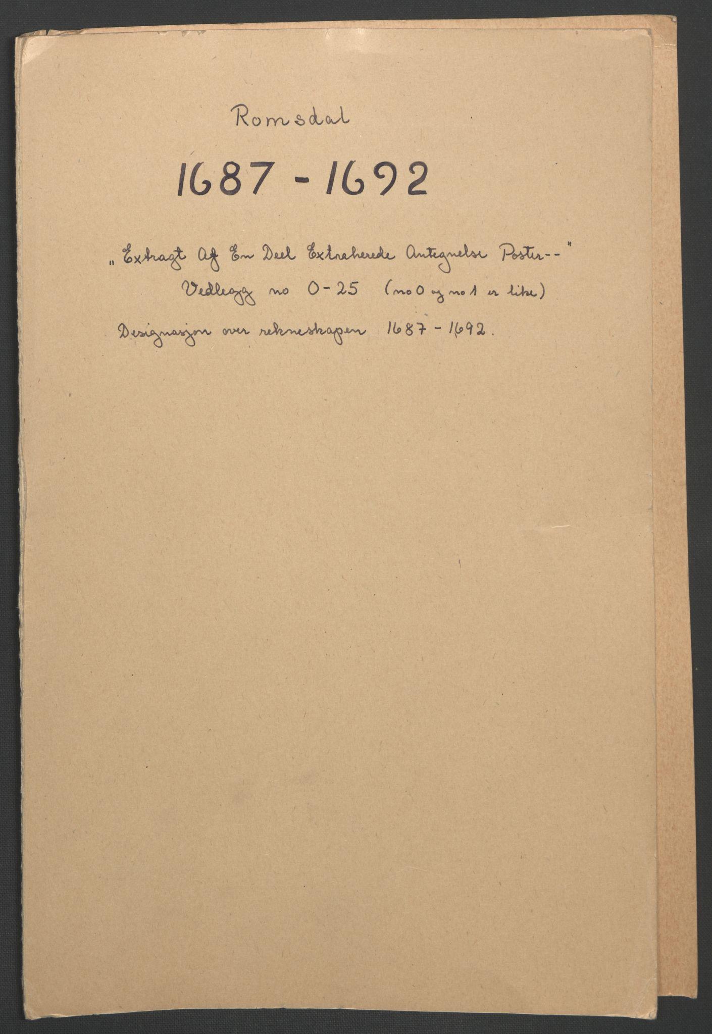 RA, Rentekammeret inntil 1814, Reviderte regnskaper, Fogderegnskap, R55/L3650: Fogderegnskap Romsdal, 1692, s. 220
