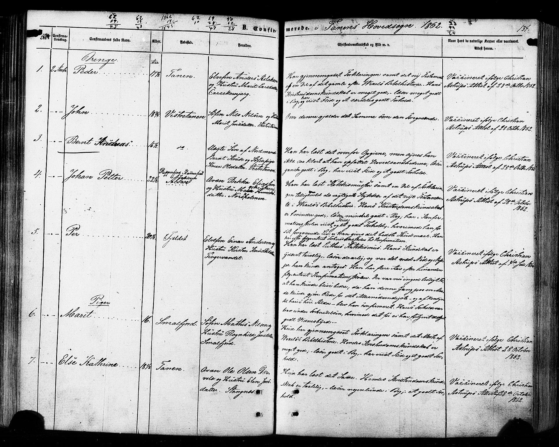 SATØ, Tana sokneprestkontor, H/Ha/L0002kirke: Ministerialbok nr. 2 /1, 1861-1877, s. 134