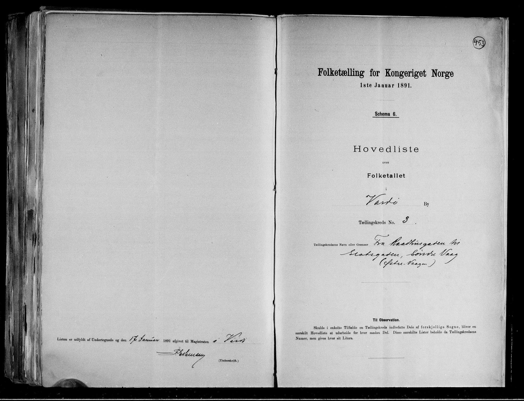 RA, Folketelling 1891 for 2002 Vardø kjøpstad, 1891, s. 9