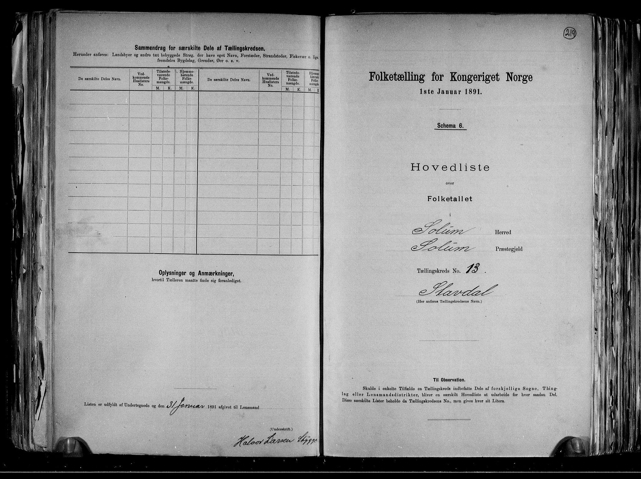 RA, Folketelling 1891 for 0818 Solum herred, 1891, s. 34