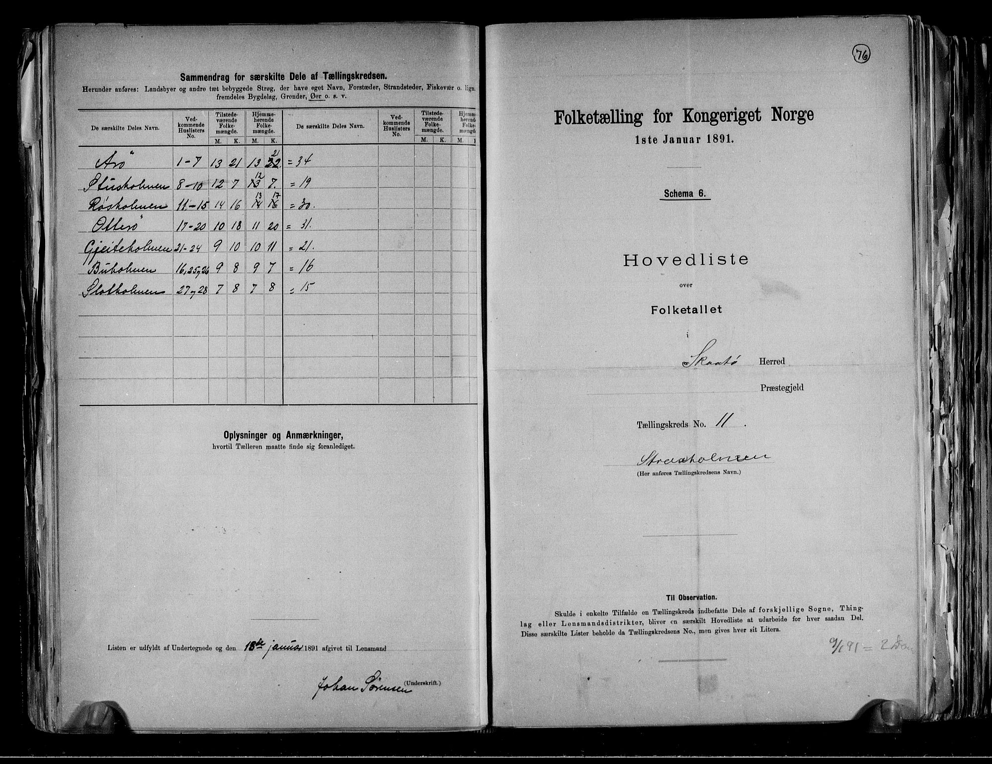 RA, Folketelling 1891 for 0815 Skåtøy herred, 1891, s. 30