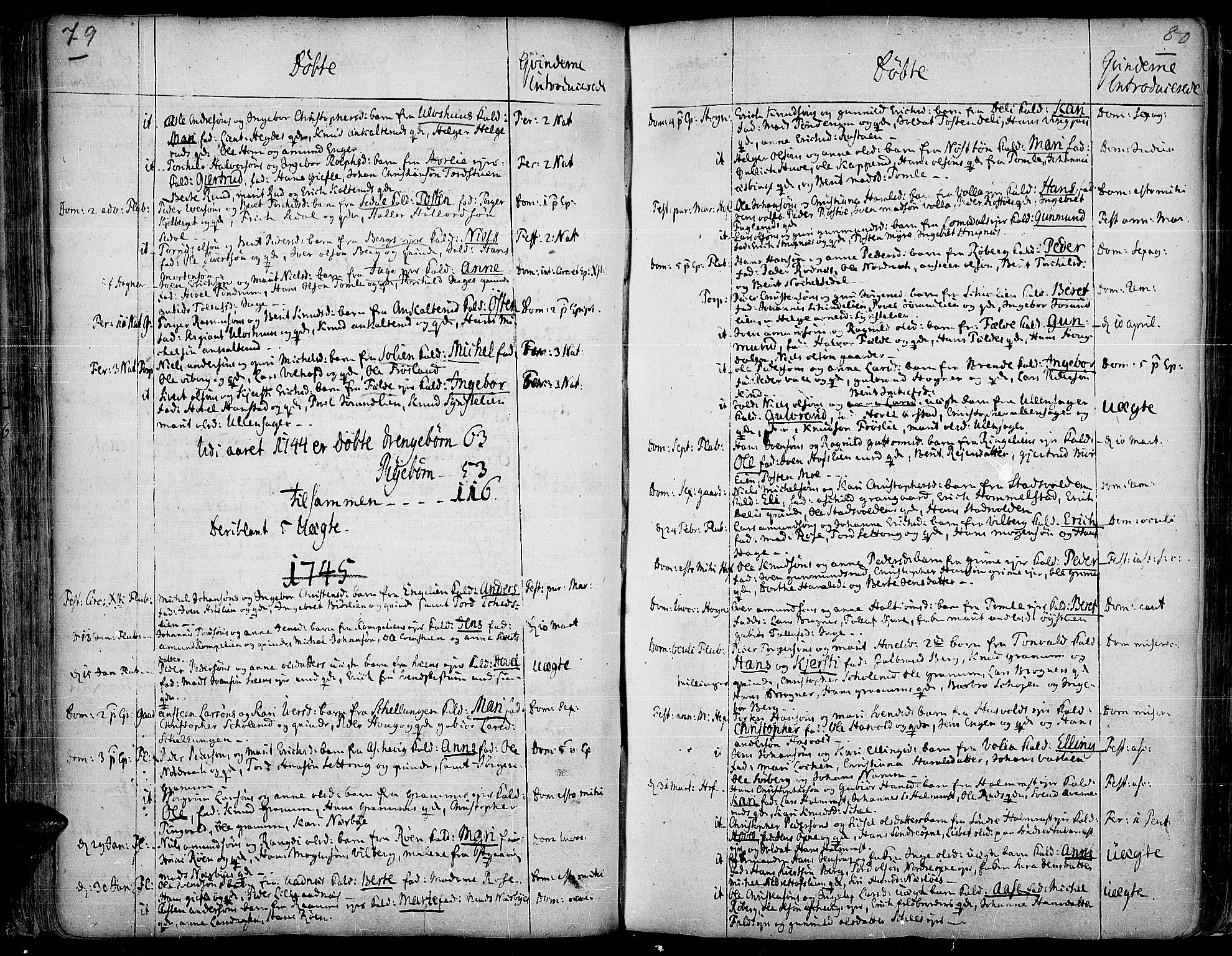SAH, Land prestekontor, Ministerialbok nr. 2, 1733-1764, s. 79-80