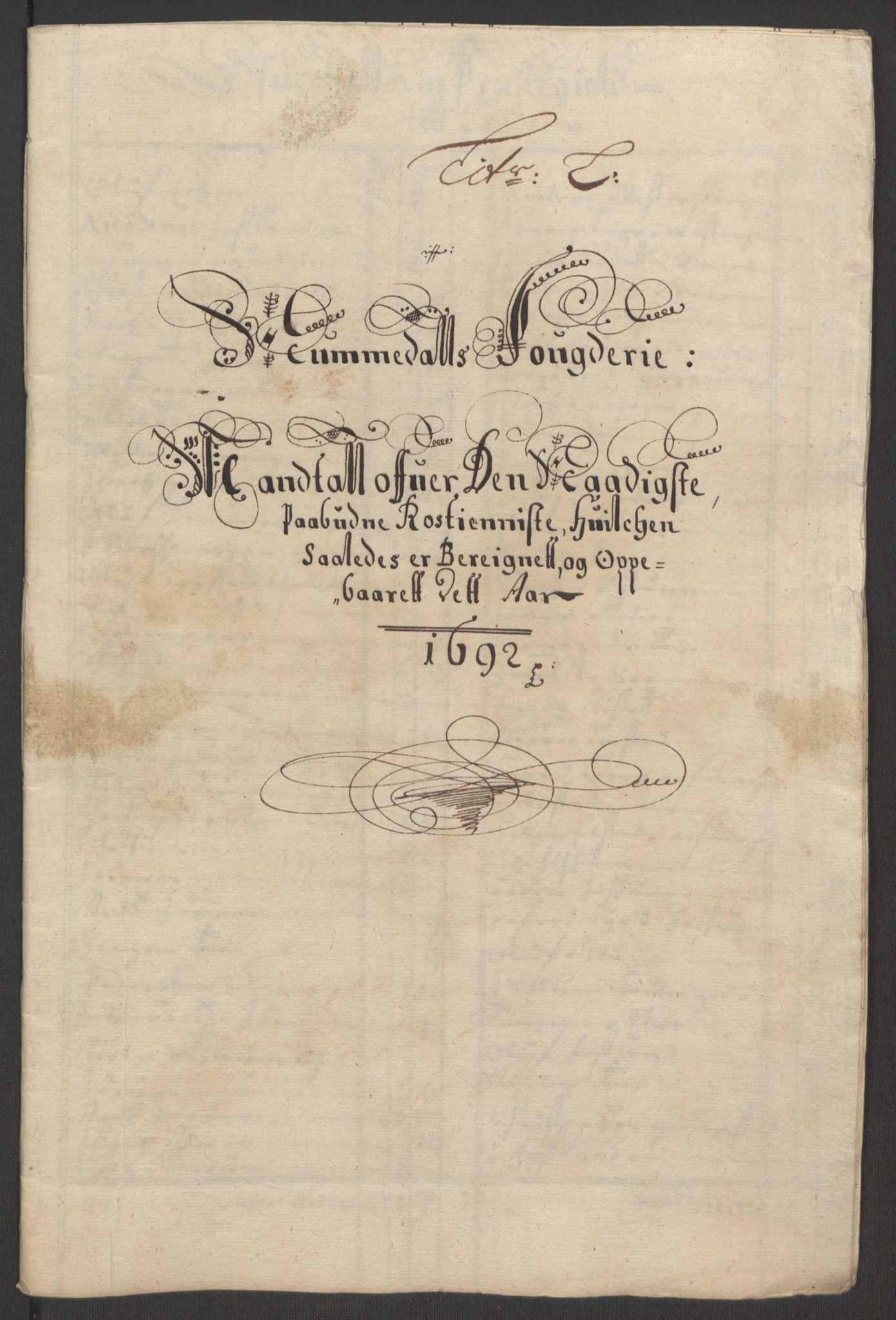 RA, Rentekammeret inntil 1814, Reviderte regnskaper, Fogderegnskap, R64/L4424: Fogderegnskap Namdal, 1692-1695, s. 74