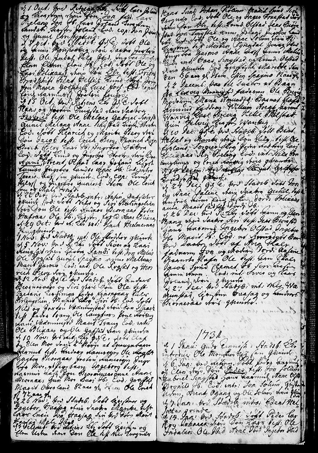 SAT, Ministerialprotokoller, klokkerbøker og fødselsregistre - Sør-Trøndelag, 646/L0603: Ministerialbok nr. 646A01, 1700-1734, s. 62